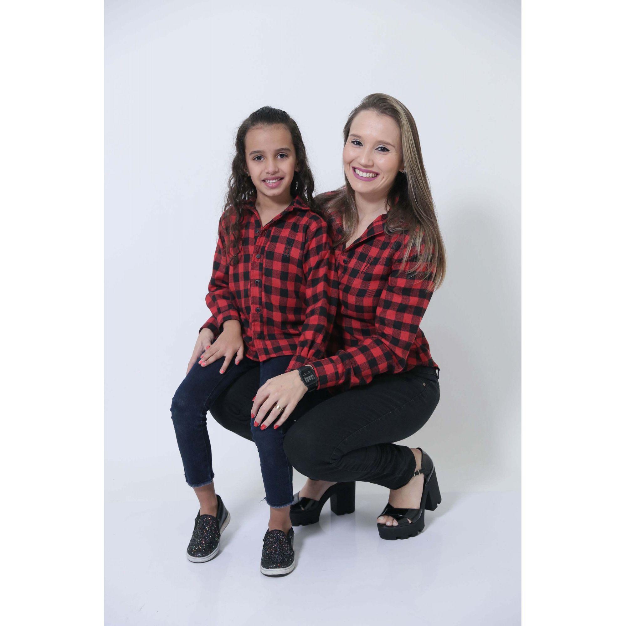 MÃE E FILHA > Kit 02 Camisas Social Xadrez Lenhador [Coleção Tal Mãe Tal Filha]  - Heitor Fashion Brazil