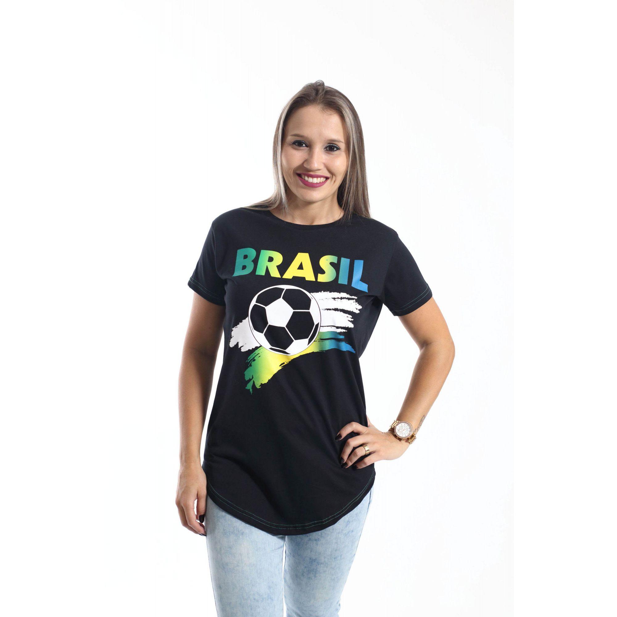 MÃE E FILHA > Kit 02 Camisetas Long Brasil [Coleção Tal Mãe Tal Filha]  - Heitor Fashion Brazil