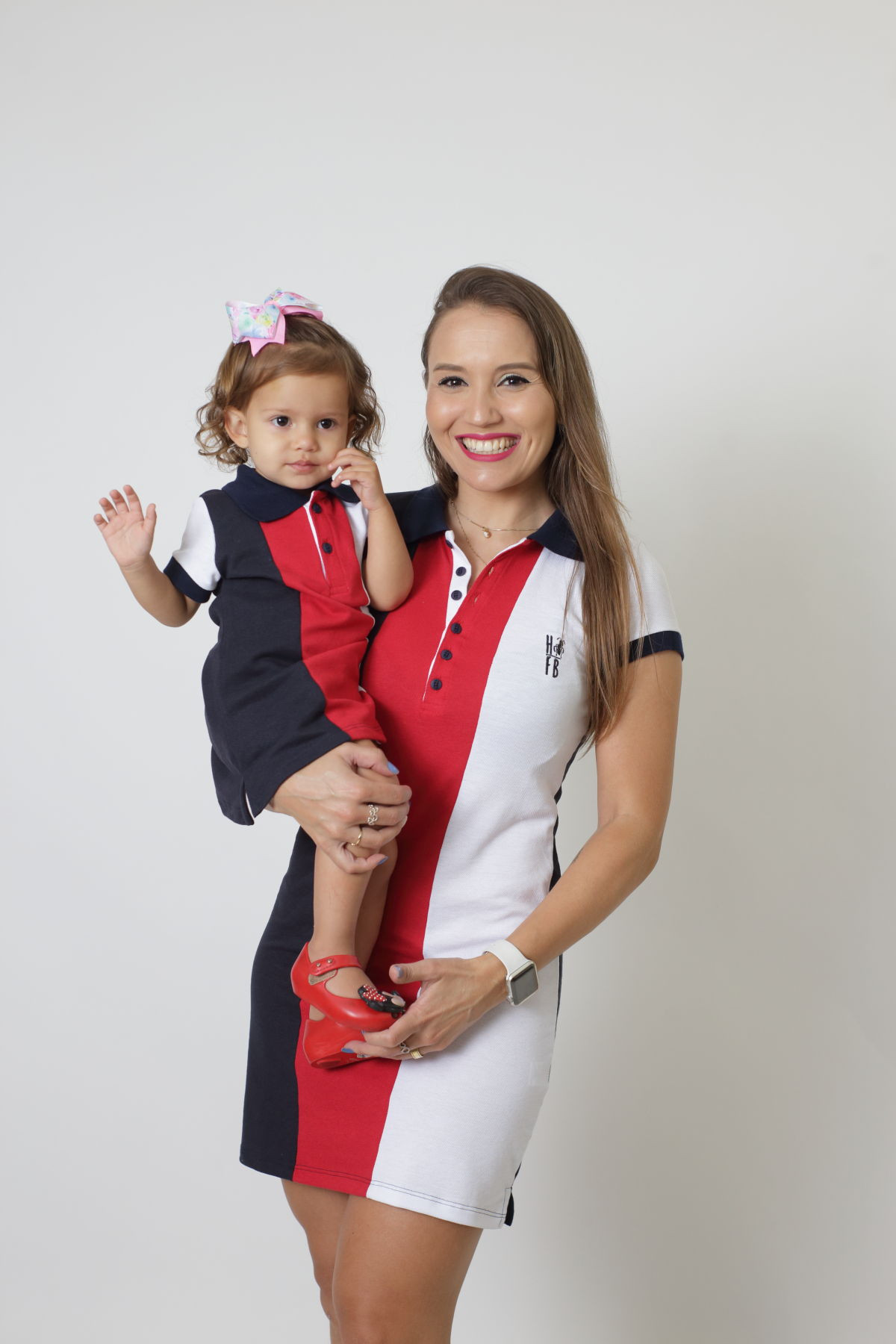 MÃE E FILHA > Kit 02 Vestidos Adulto e Infantil - Listrados King