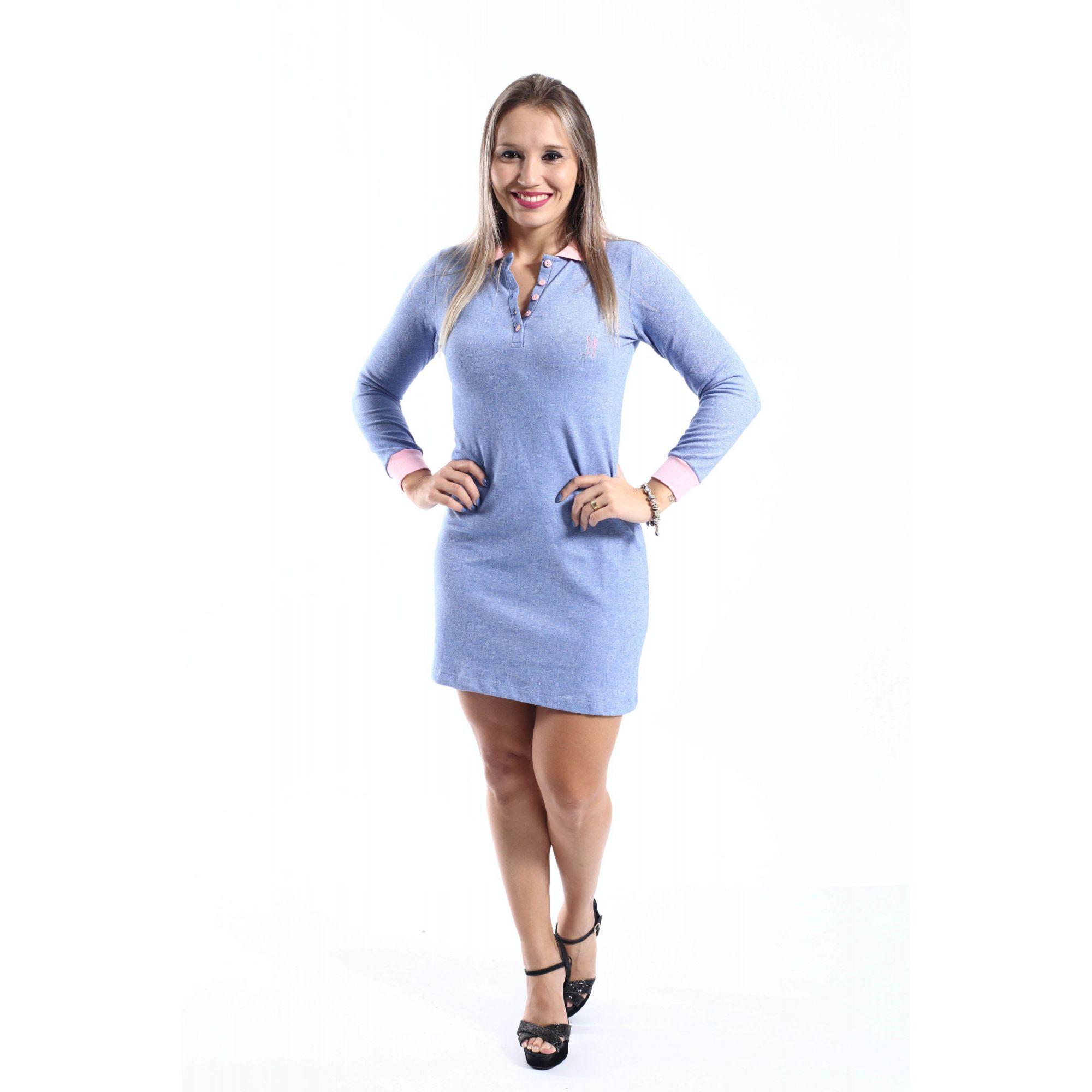 MÃE E FILHA > Kit 02 Vestidos Azuis Manga Longa [Coleção Tal Mãe Tal Filha]  - Heitor Fashion Brazil