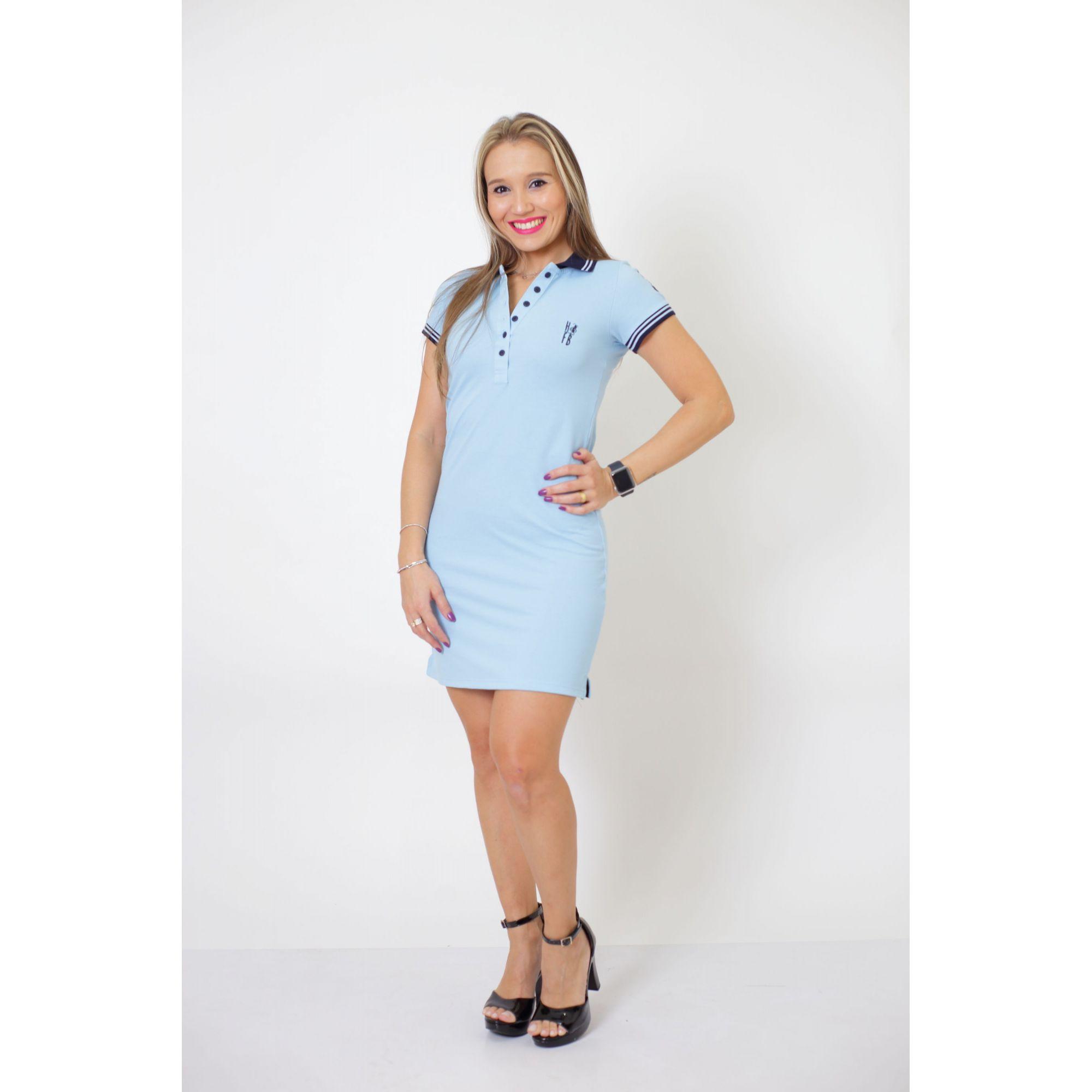 MÃE E FILHA > Kit 02 Vestidos Polo Azul Nobreza [Coleção Tal Mãe Tal Filha]  - Heitor Fashion Brazil