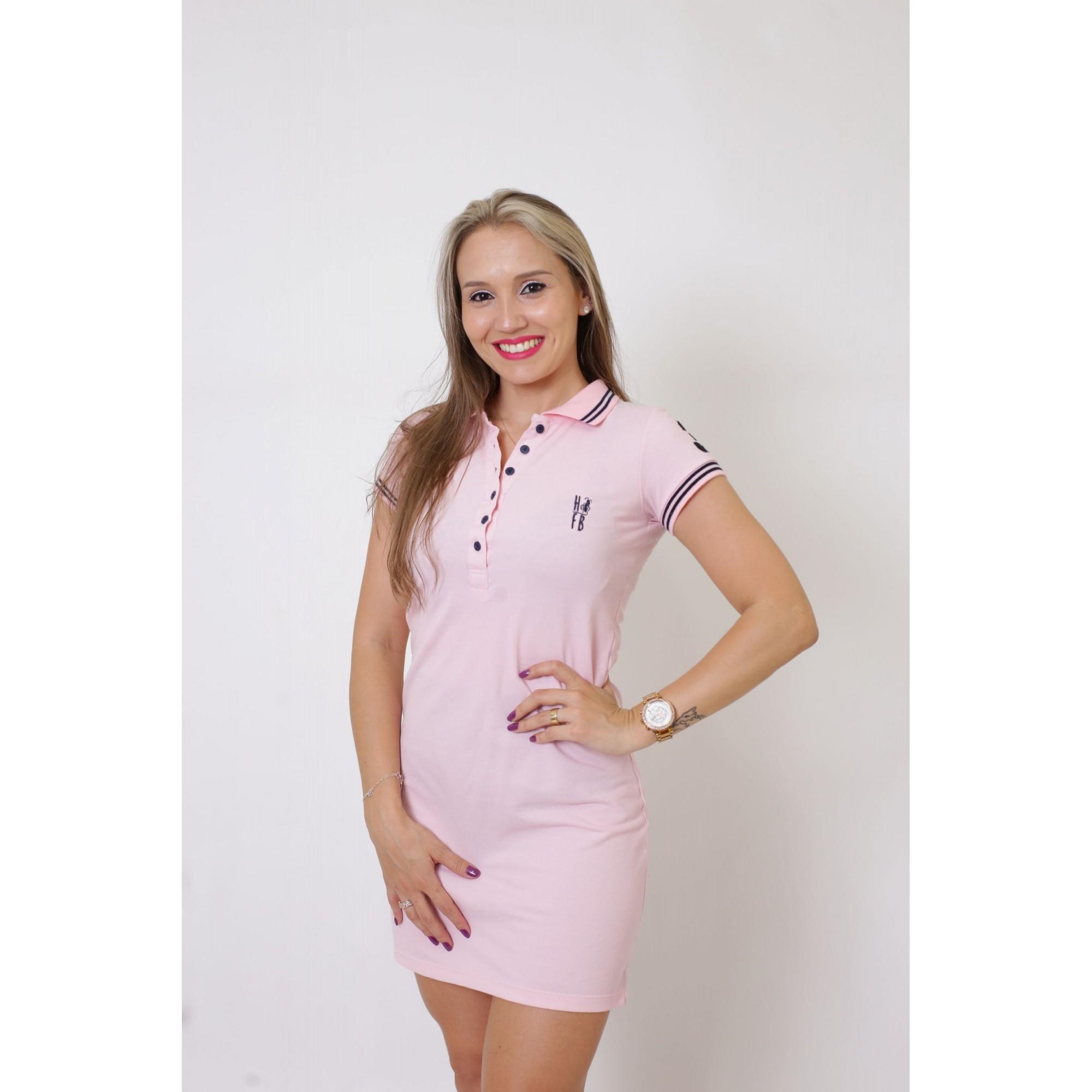 MÃE E FILHA > Kit 02 Vestidos Polo Rosa Amor [Coleção Tal Mãe Tal Filha]  - Heitor Fashion Brazil