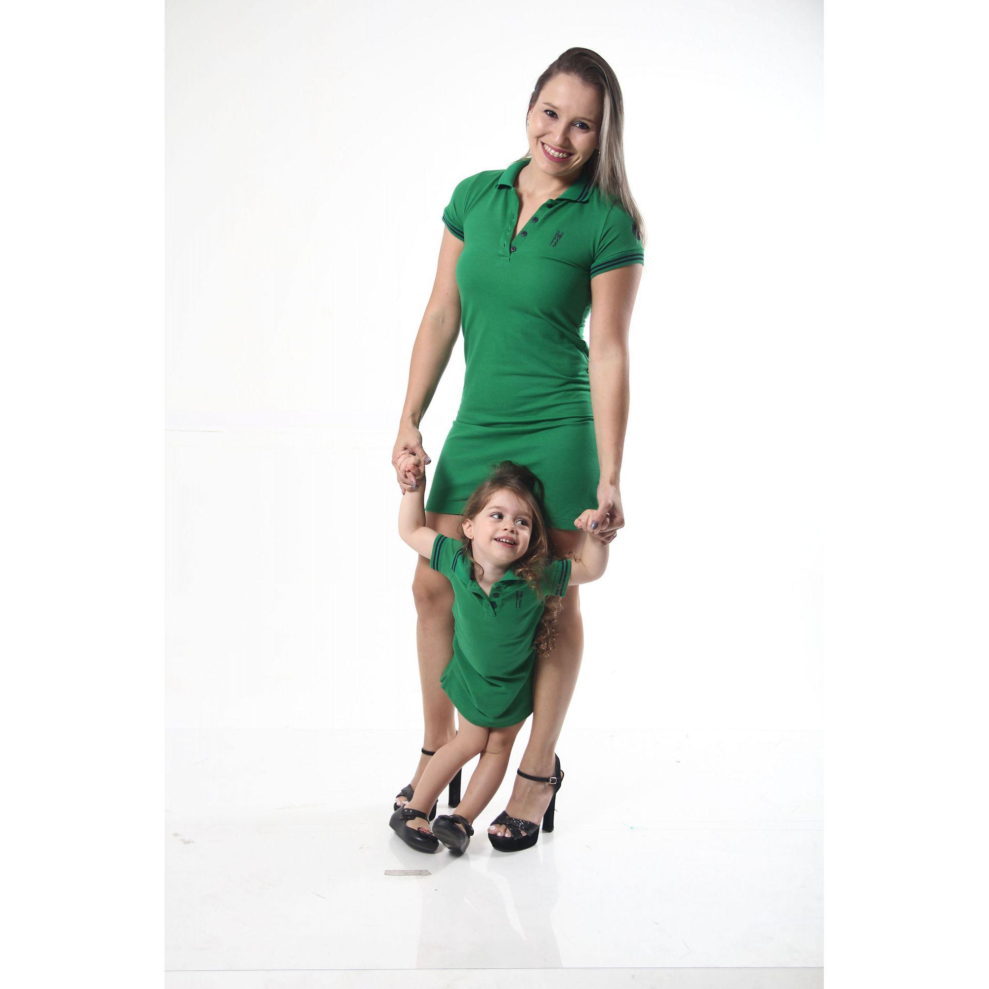 b2a229184b27 MÃE E FILHA > Kit 02 Vestidos Polo Verde esperança [Coleção Tal Mãe Tal  Filha .