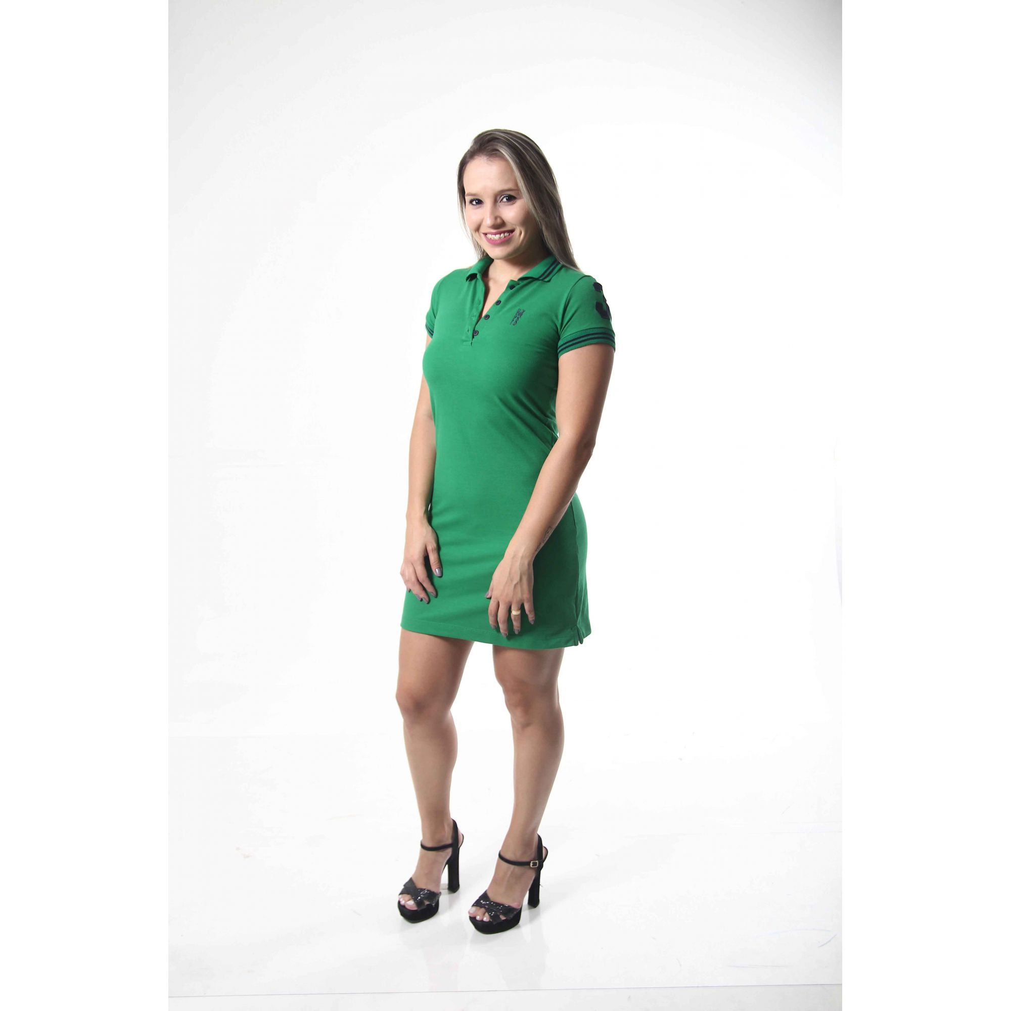 MÃE E FILHA > Kit 02 Vestidos Polo Verde esperança [Coleção Tal Mãe Tal Filha]  - Heitor Fashion Brazil