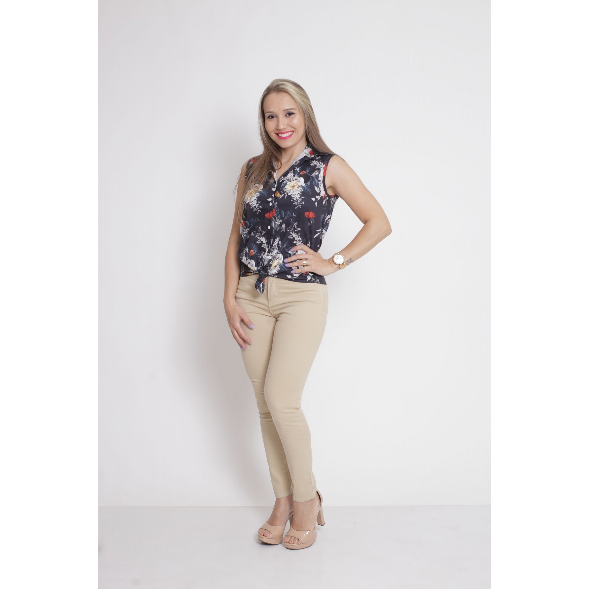 MÃE E FILHO > Kit 02 Camisas Social - Adulto + Infantil Preta Floral [Coleção Tal Mãe Tal Filho]  - Heitor Fashion Brazil