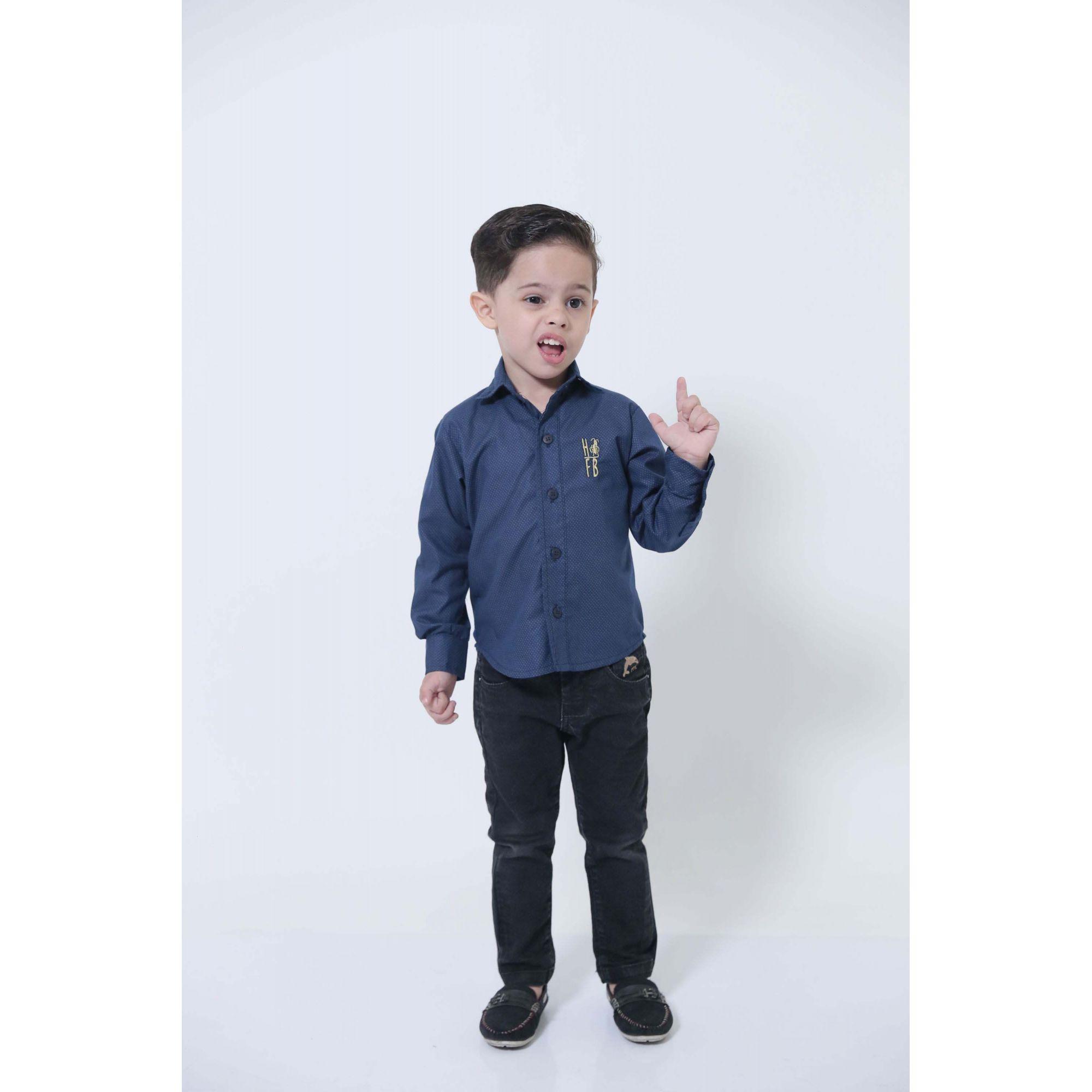 MÃE E FILHOS > Kit 02 Camisas Social Azul Marinho Steve Seagal [Coleção Tal Mãe Tal Filho]  - Heitor Fashion Brazil