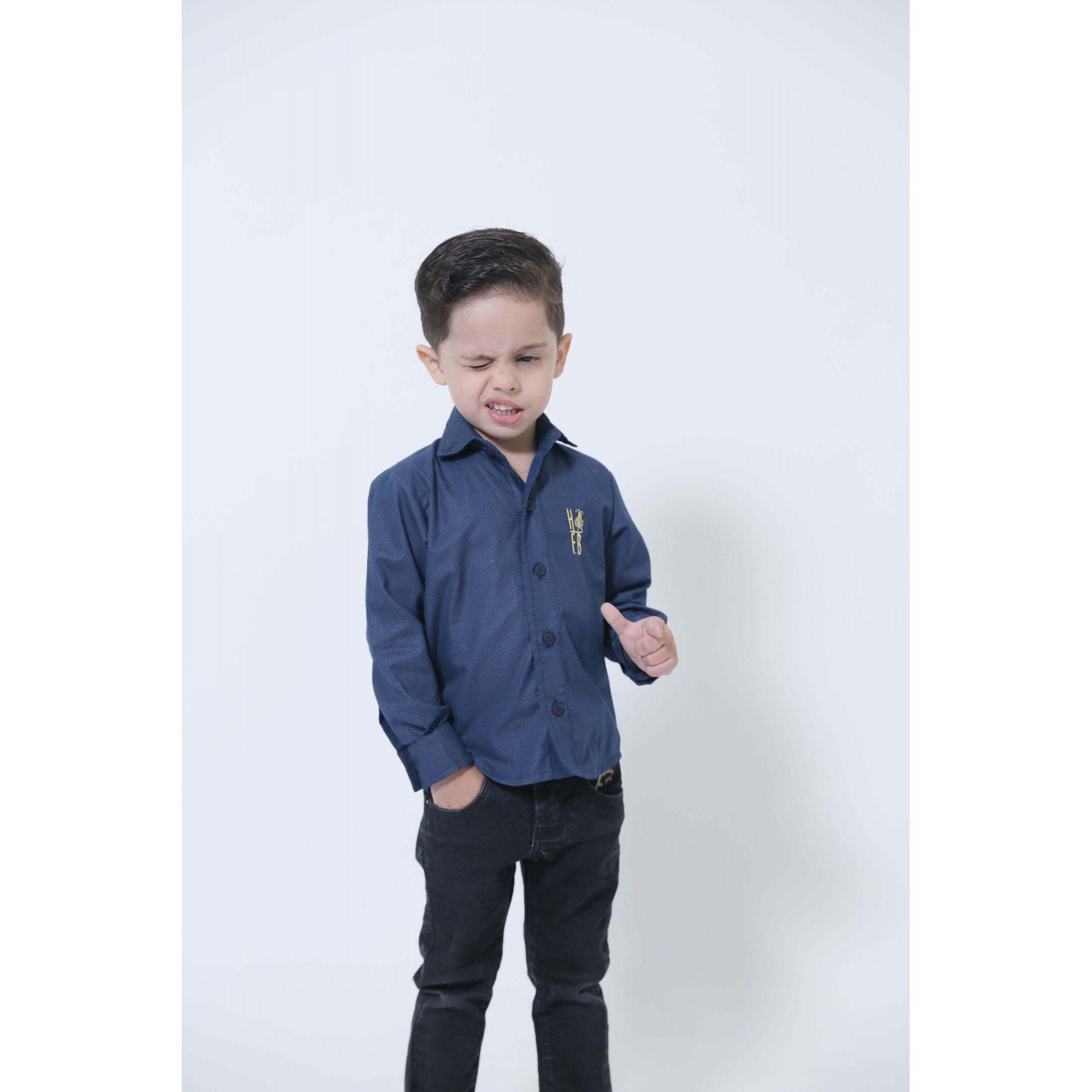 MÃE E FILHO > Kit 02 Camisas Social Azul Marinho Steve Seagal [Coleção Tal Mãe Tal Filho]  - Heitor Fashion Brazil