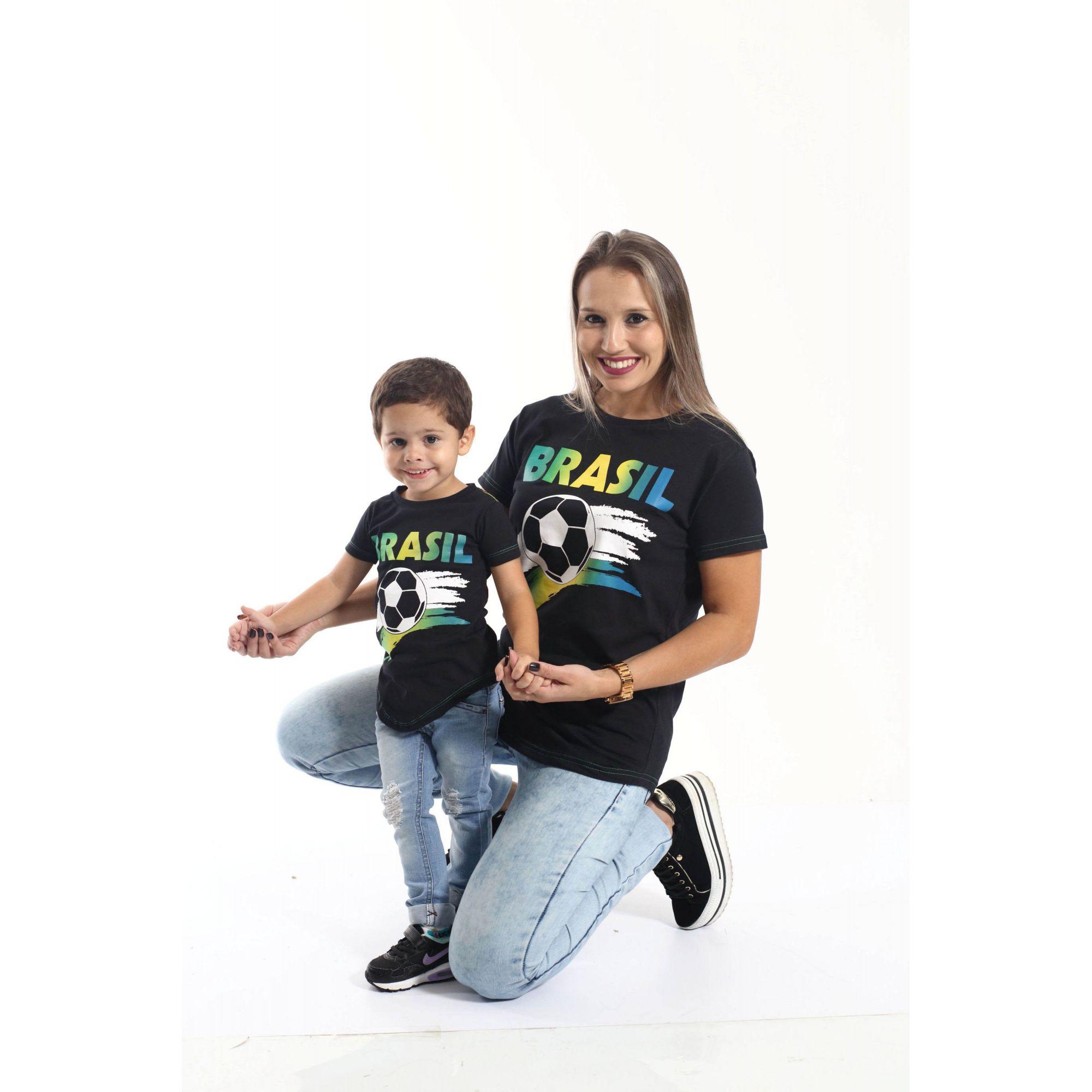MÃE E FILHO > Kit 02 Camisetas Long Brasil [Coleção Tal Mãe Tal Filho]  - Heitor Fashion Brazil