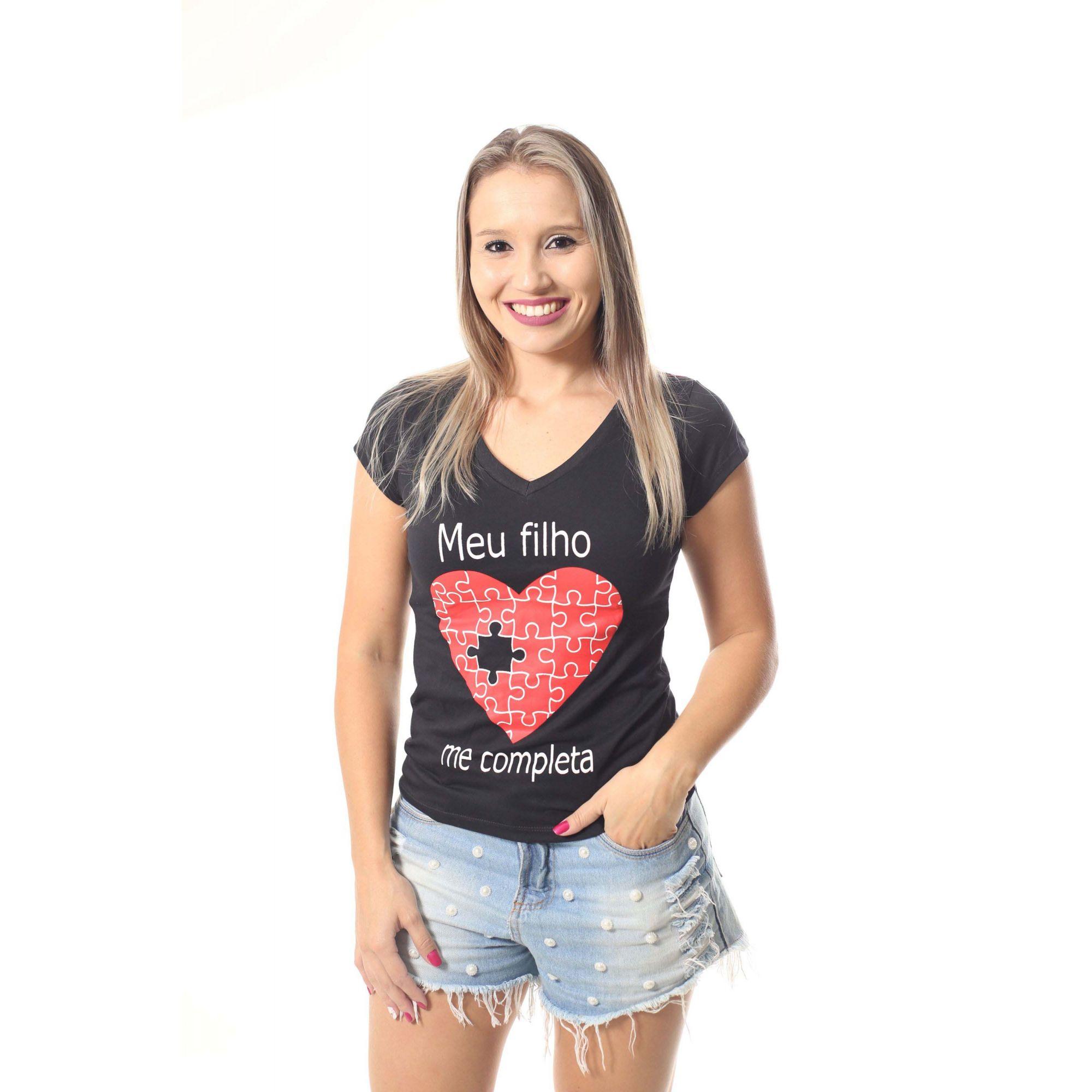 Mãe e Filho > Kit 02 Camisetas Pretas Meu filho me completa [Coleção Tal Mãe Tal Filho]  - Heitor Fashion Brazil