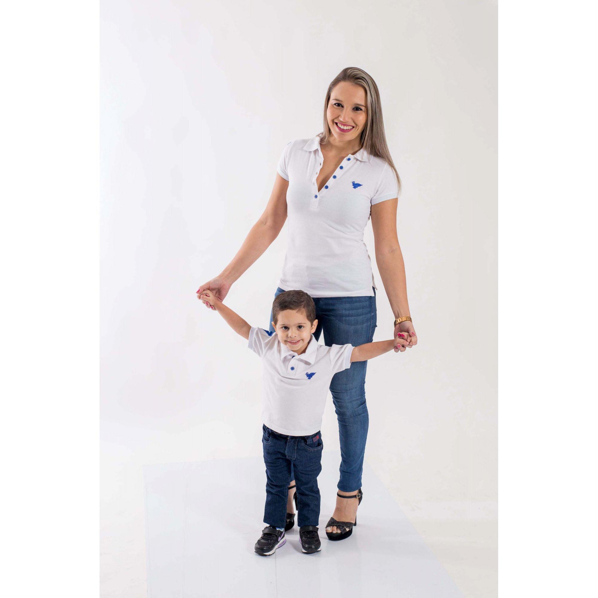 MÃE E FILHO > Kit 02 Peças - Camisas Branca [Coleção Tal Mãe Tal Filho]
