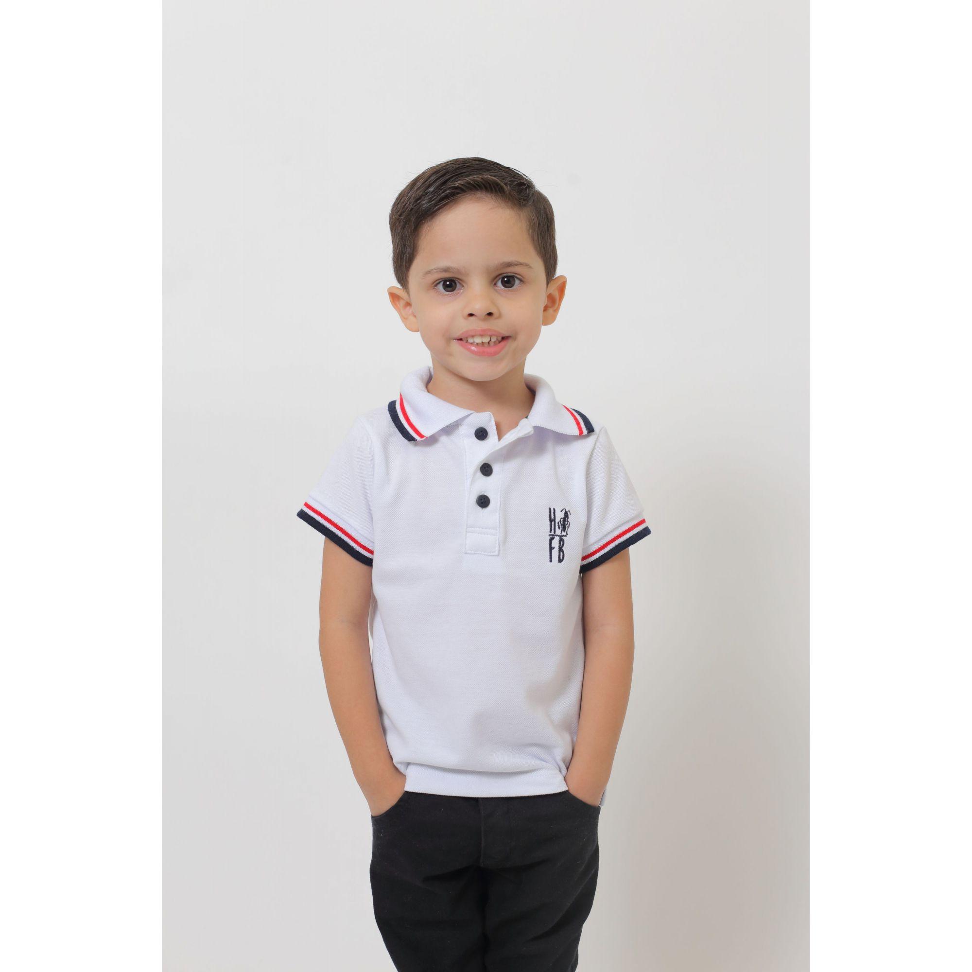 MÃE E FILHO > Kit 02 peças - Camisas ou Body Polo Branca   [Coleção Tal Mãe Tal Filho]  - Heitor Fashion Brazil