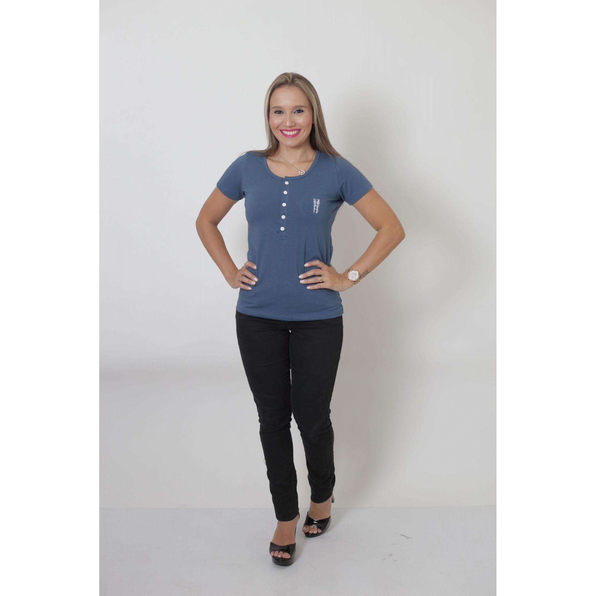 MÃE E FILHOS > Kit 02 Peças - T-Shirt + Body Henley Unissex - Azul Petróleo [Coleção Tal Mãe Tal Filhos]  - Heitor Fashion Brazil