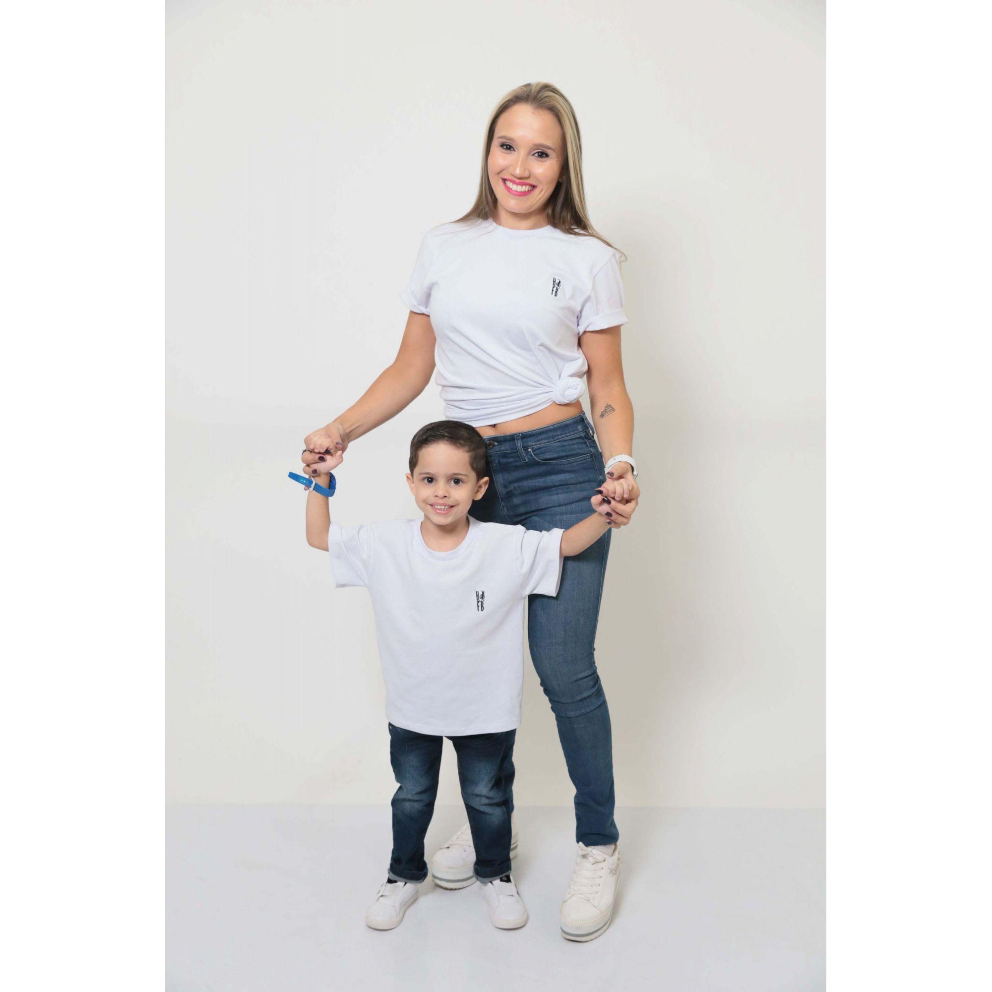 MÃE E FILHO > Kit 02 Peças T-Shirts - Branca [Coleção Tal Mãe Tal Filho]