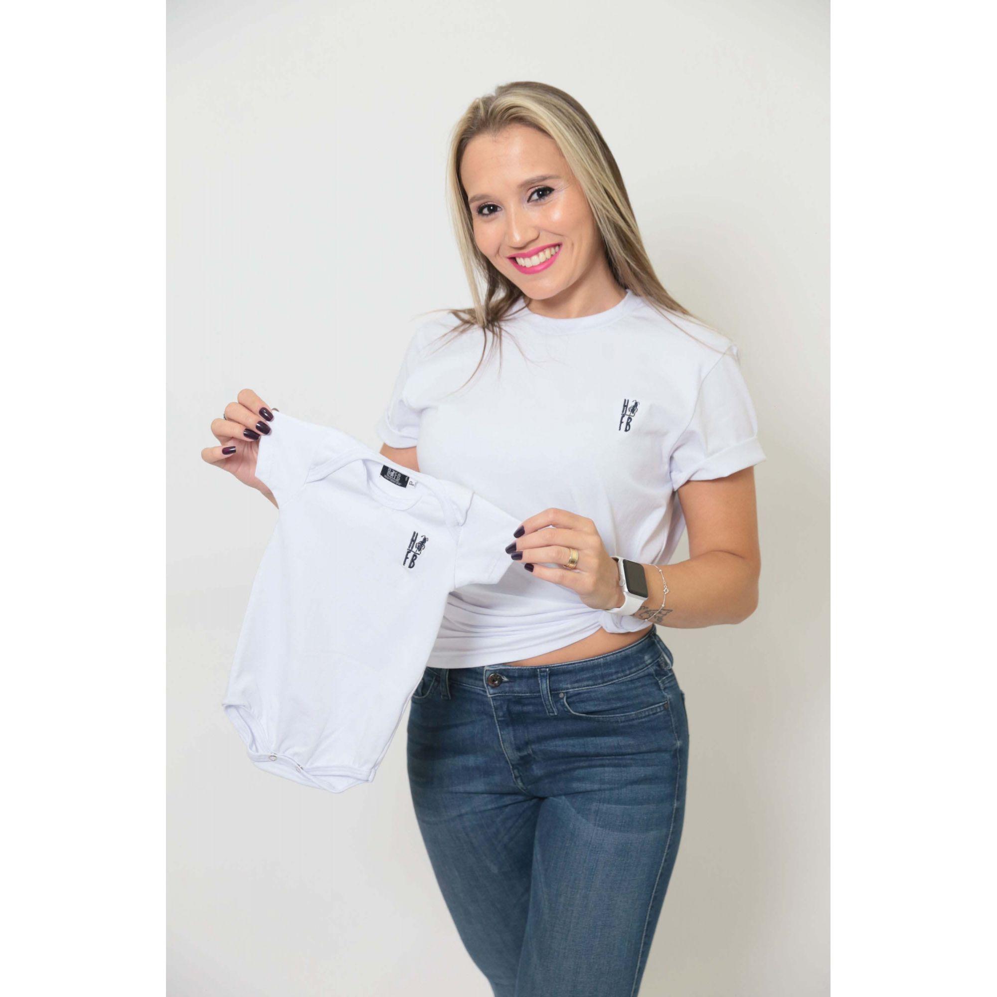 MÃE E FILHO > Kit 02 Peças T-Shirts - Branca [Coleção Tal Mãe Tal Filho]  - Heitor Fashion Brazil