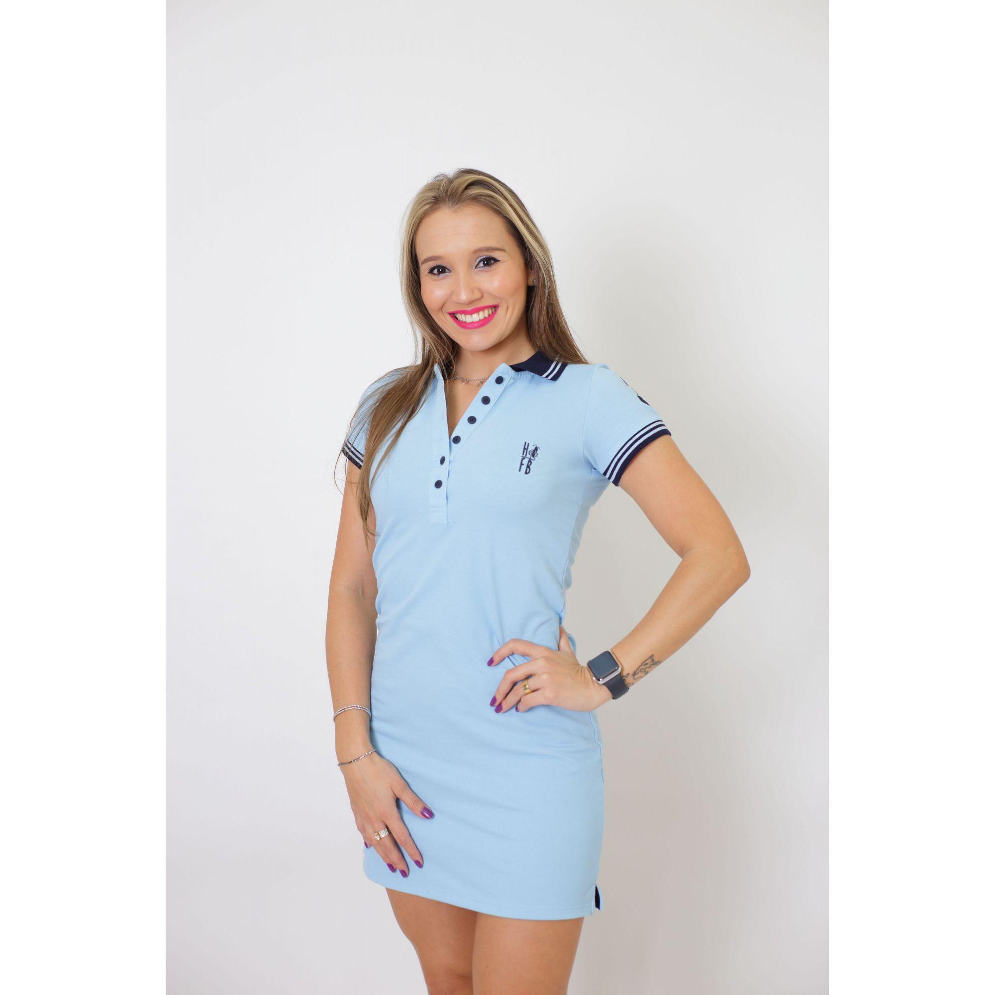 MÃE E FILHO > Kit 02 peças Vestido + Body  Unissex Polo - Azul Nobreza [Coleção Tal Mãe Tal Filho]  - Heitor Fashion Brazil