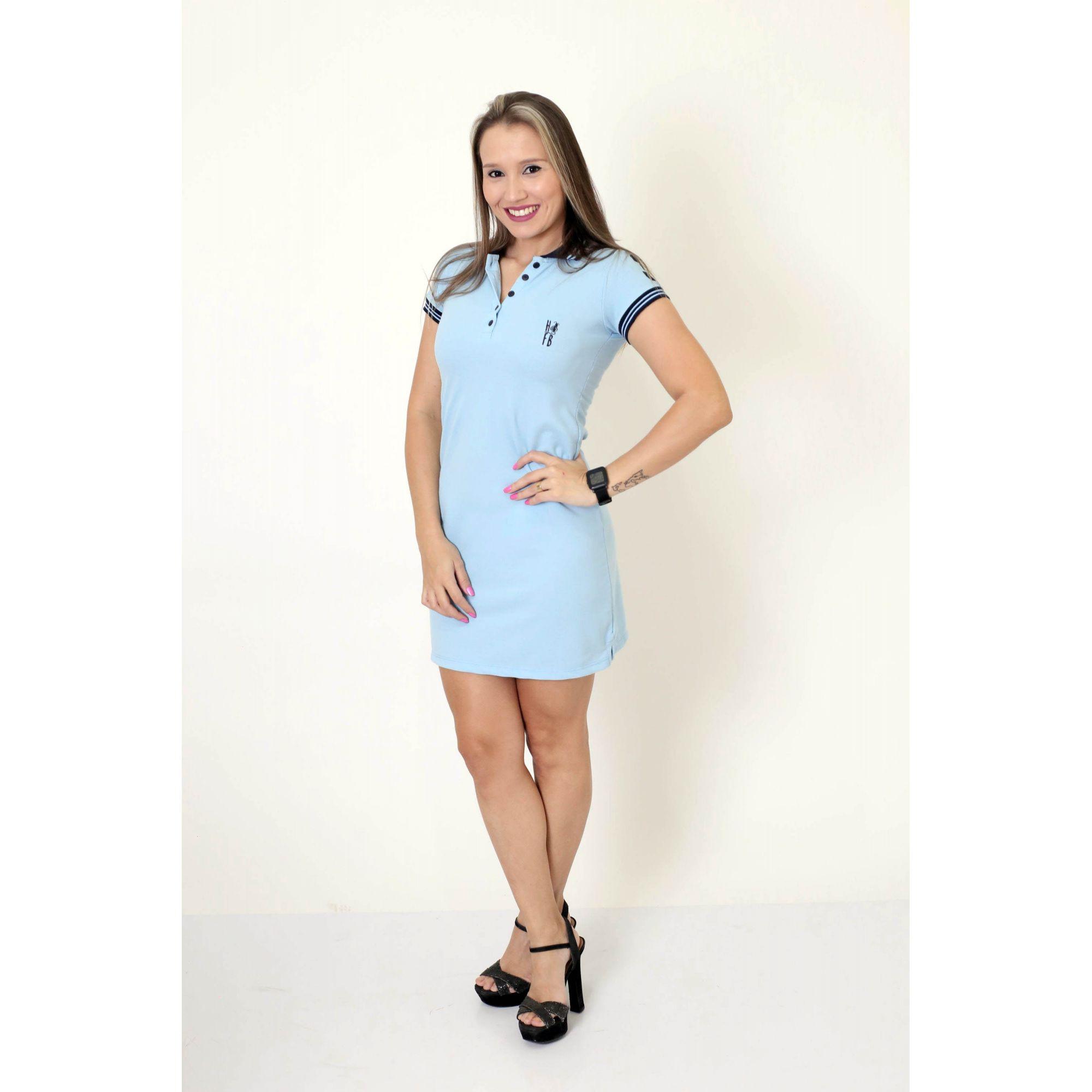 MÃE E FILHO > Kit 02 peças Vestido e Camisa ou Body Polo Infantil Azul Nobreza [Coleção Tal Mãe Tal Filho]  - Heitor Fashion Brazil