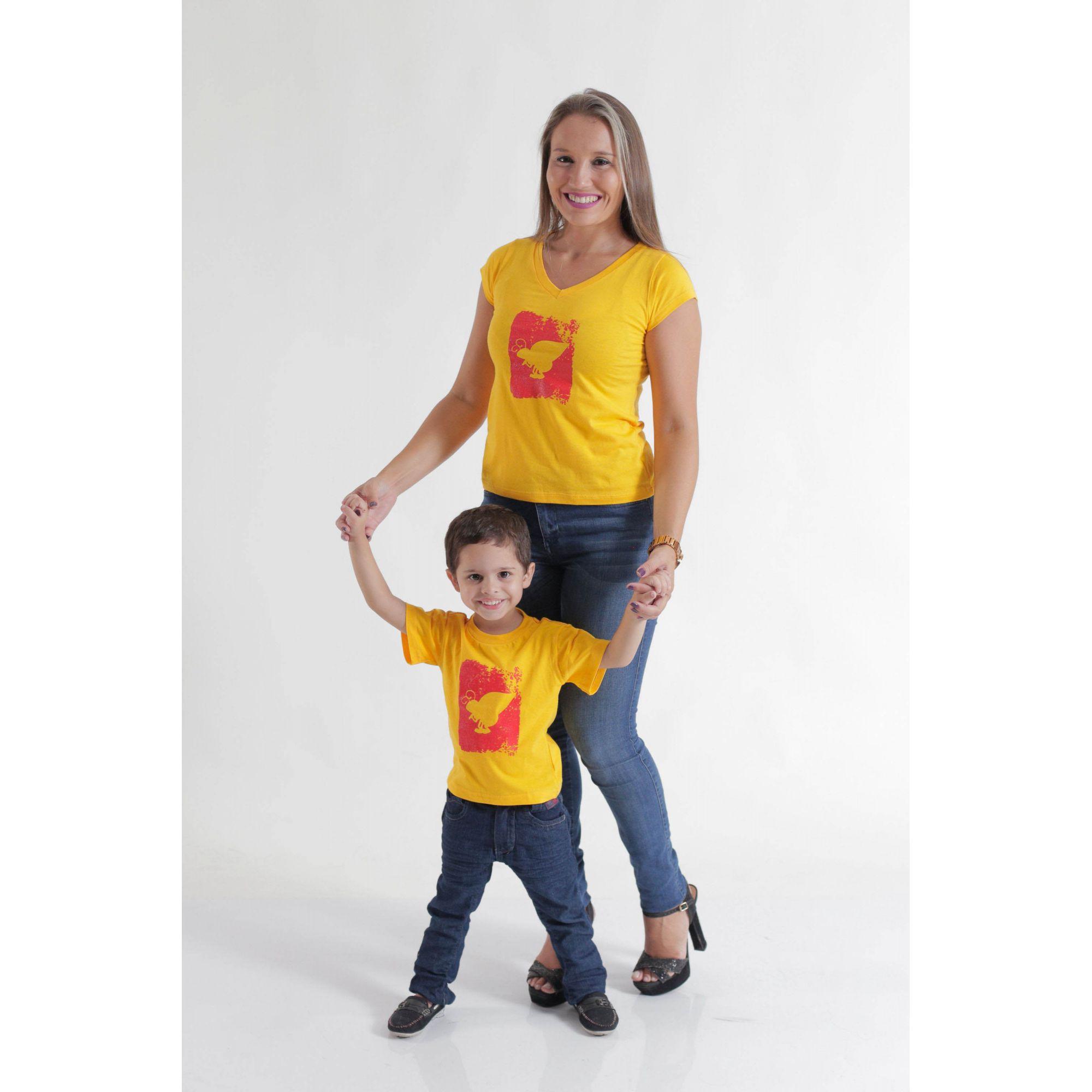 MÃE E FILHO > Kit Camisetas Amarela Formiga [Coleção Tal Mãe Tal Filho]