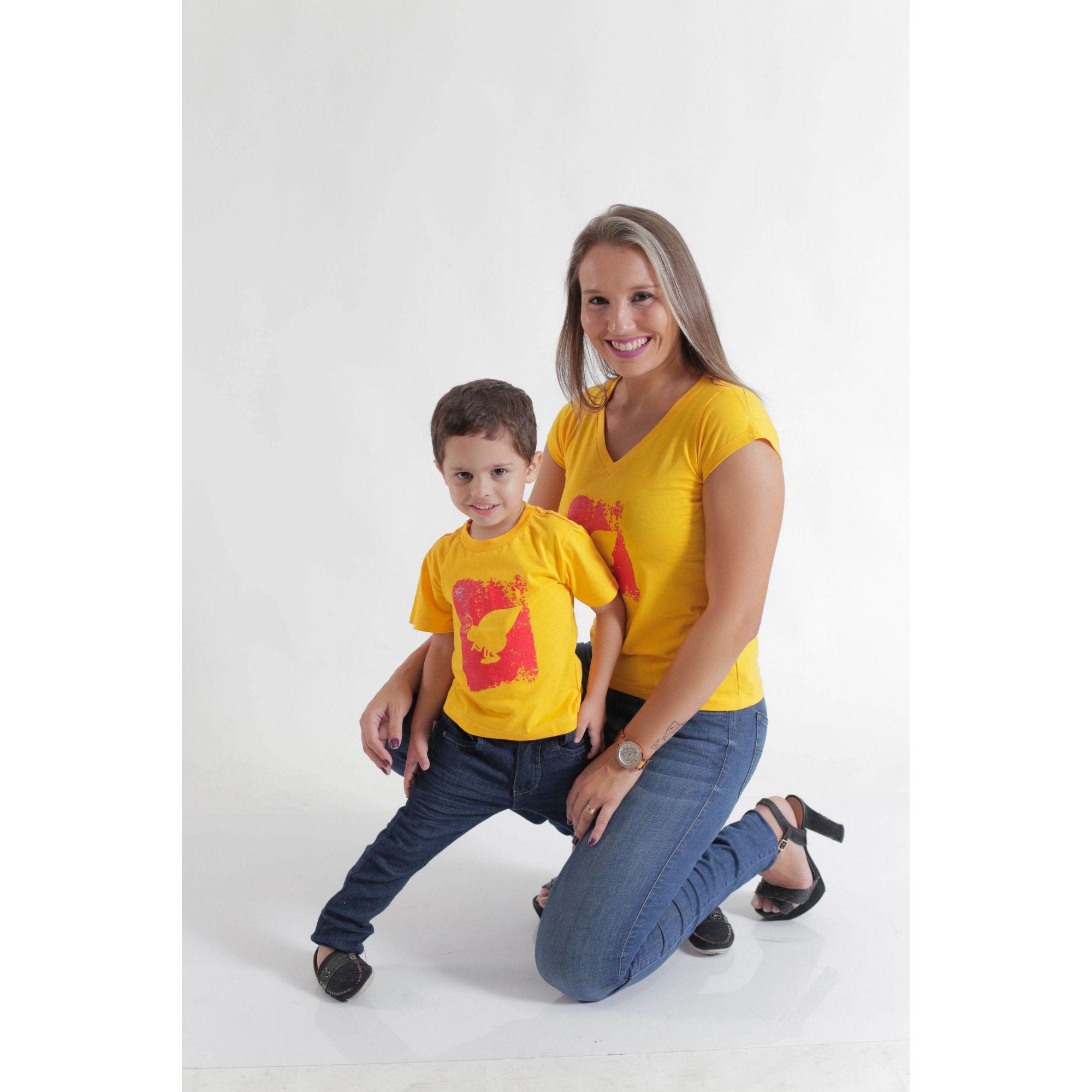 MÃE E FILHO > Kit Camisetas Amarela Formiga [Coleção Tal Mãe Tal Filho]  - Heitor Fashion Brazil