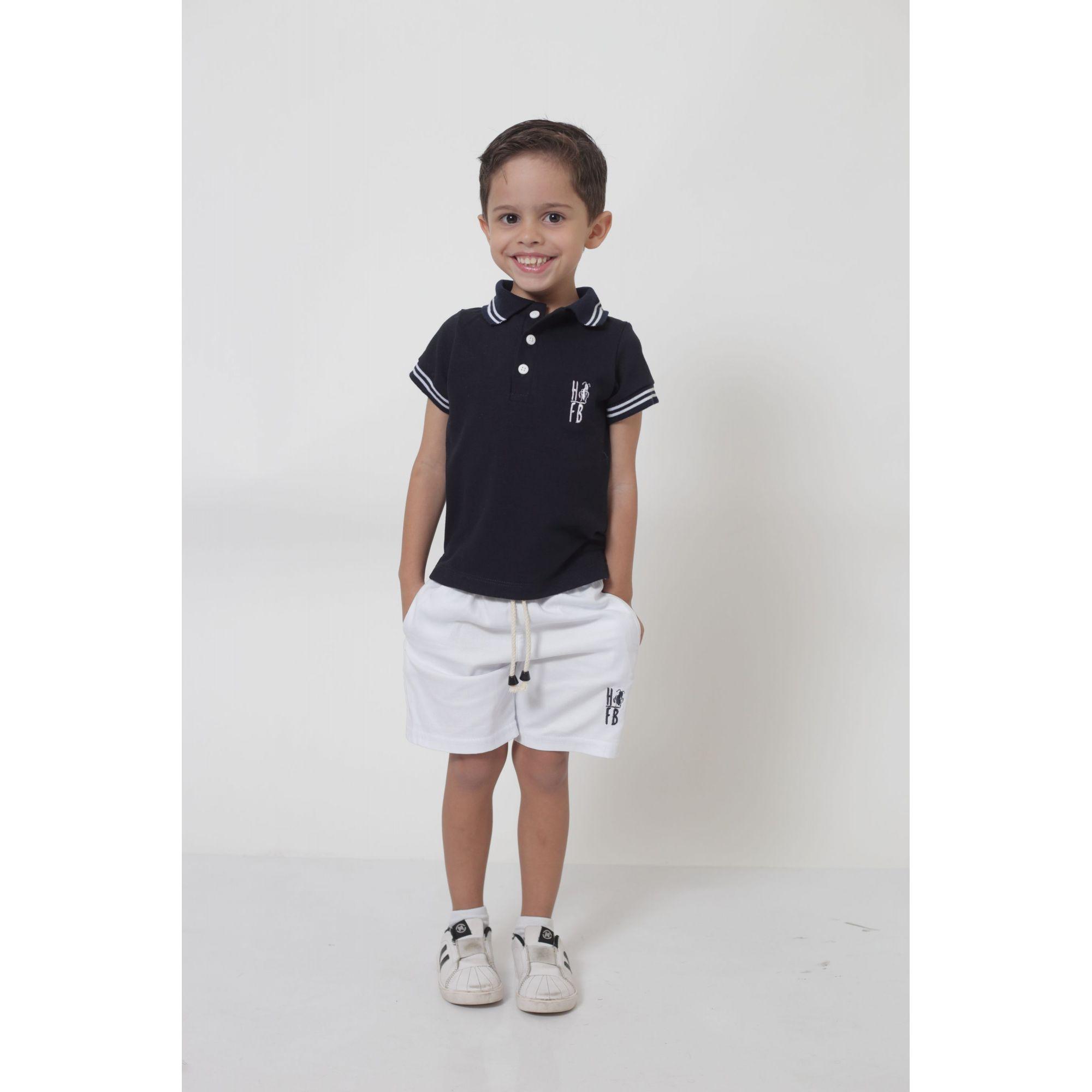 MÃE E FILHO > Kit - Shorts Saia + Bermuda Infantil - Branca [Coleção Tal Mãe Tal Filho]  - Heitor Fashion Brazil