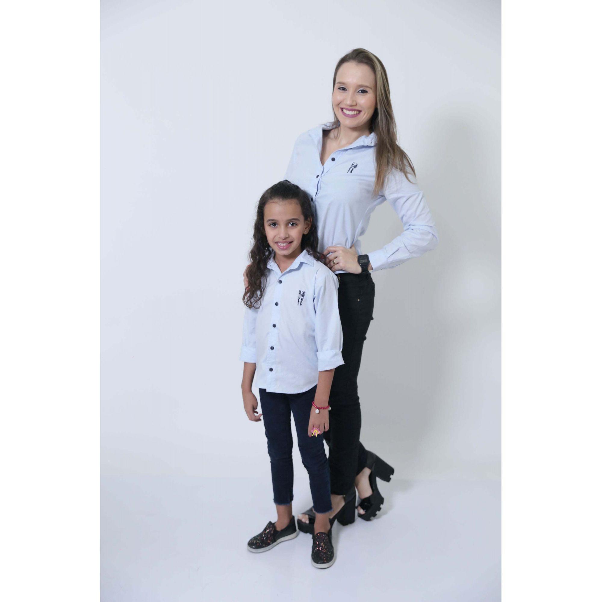 MÃE E FILHOS > Kit 02 Camisas Social Azul Claro Bebê [Coleção Tal Mãe Tal Filho]  - Heitor Fashion Brazil