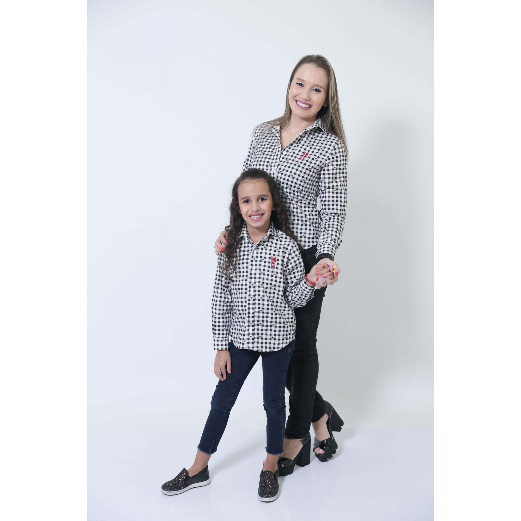 MÃE E FILHOS > Kit 02 Camisas Social Xadrez Dama [Coleção Tal Mãe Tal Filho]  - Heitor Fashion Brazil