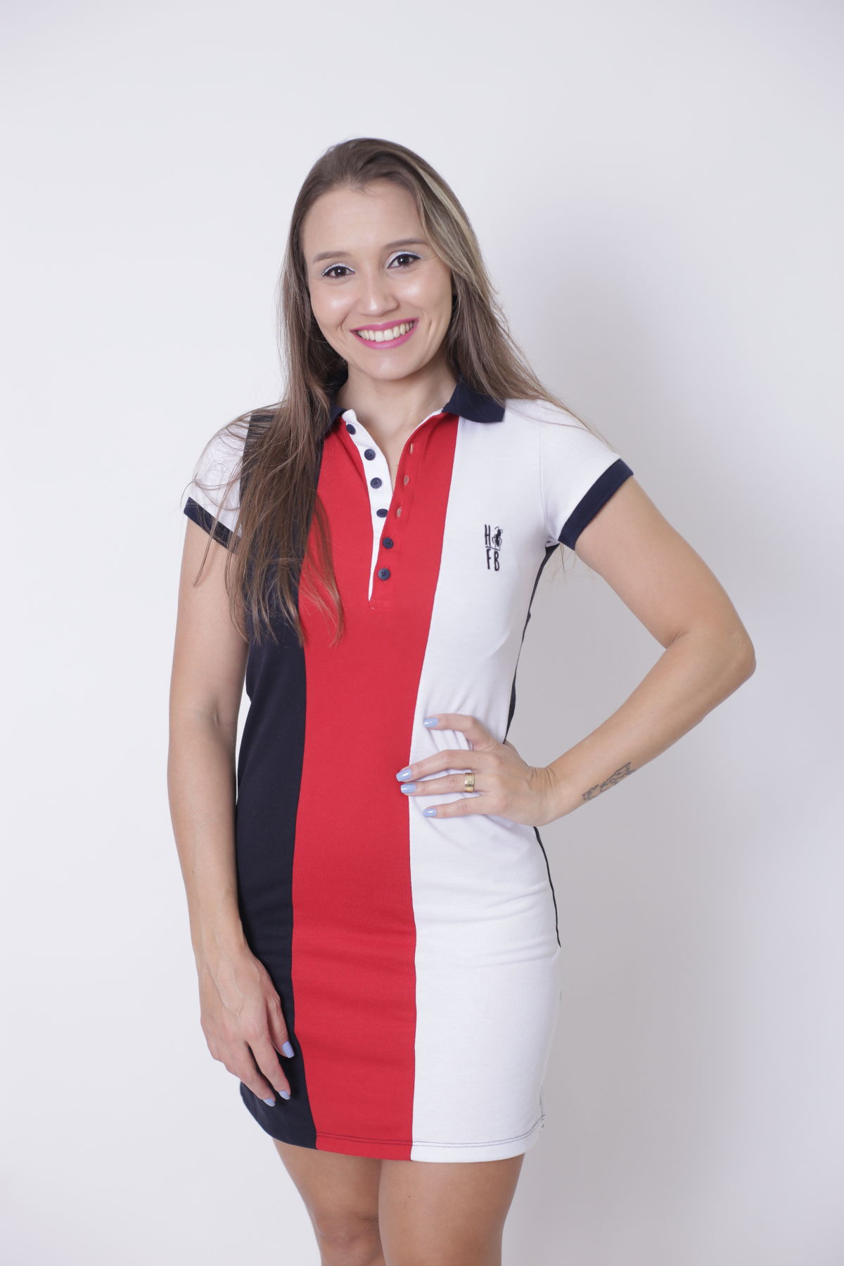 MÃE E FILHOS > Kit 02 peças Vestido + Body Unissex Polo - Listrados King [Coleção Tal Mãe Tal Filhos]  - Heitor Fashion Brazil