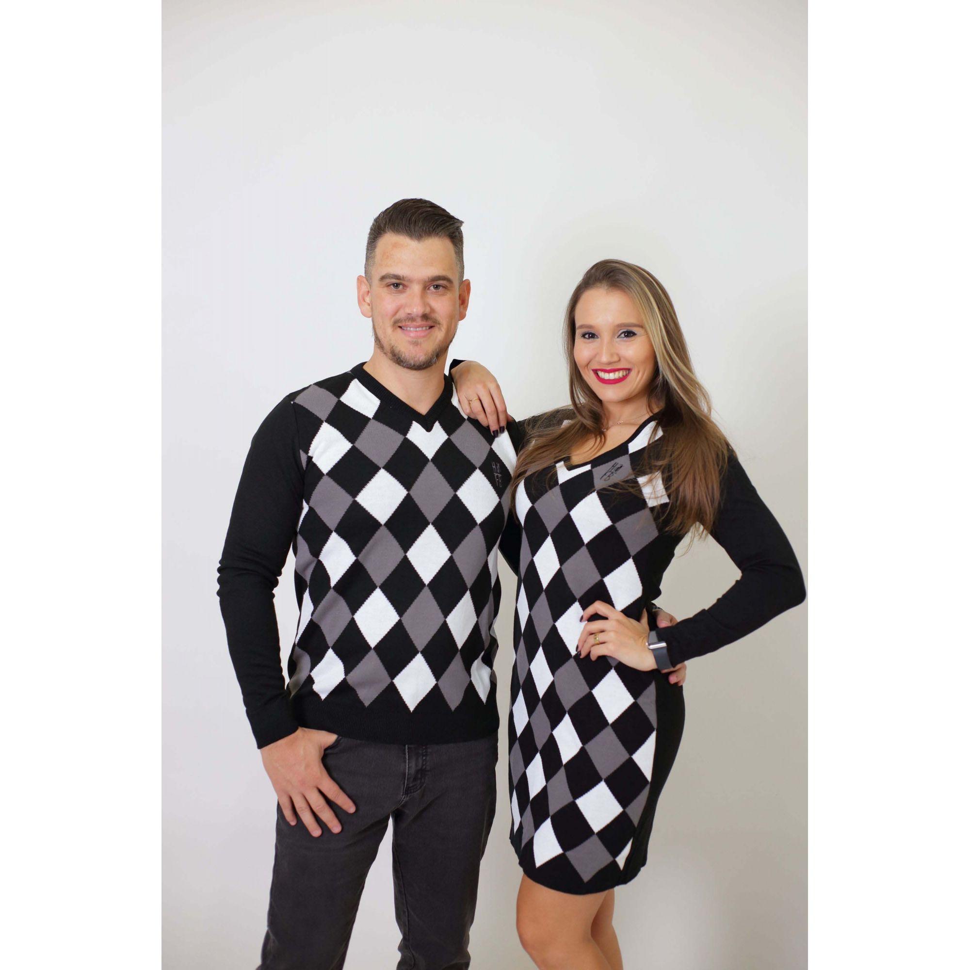 NAMORADOS > Kit 02 Peças - Blusa Suéter + Vestido Suéter - Jacquar [Coleção Namorados]  - Heitor Fashion Brazil