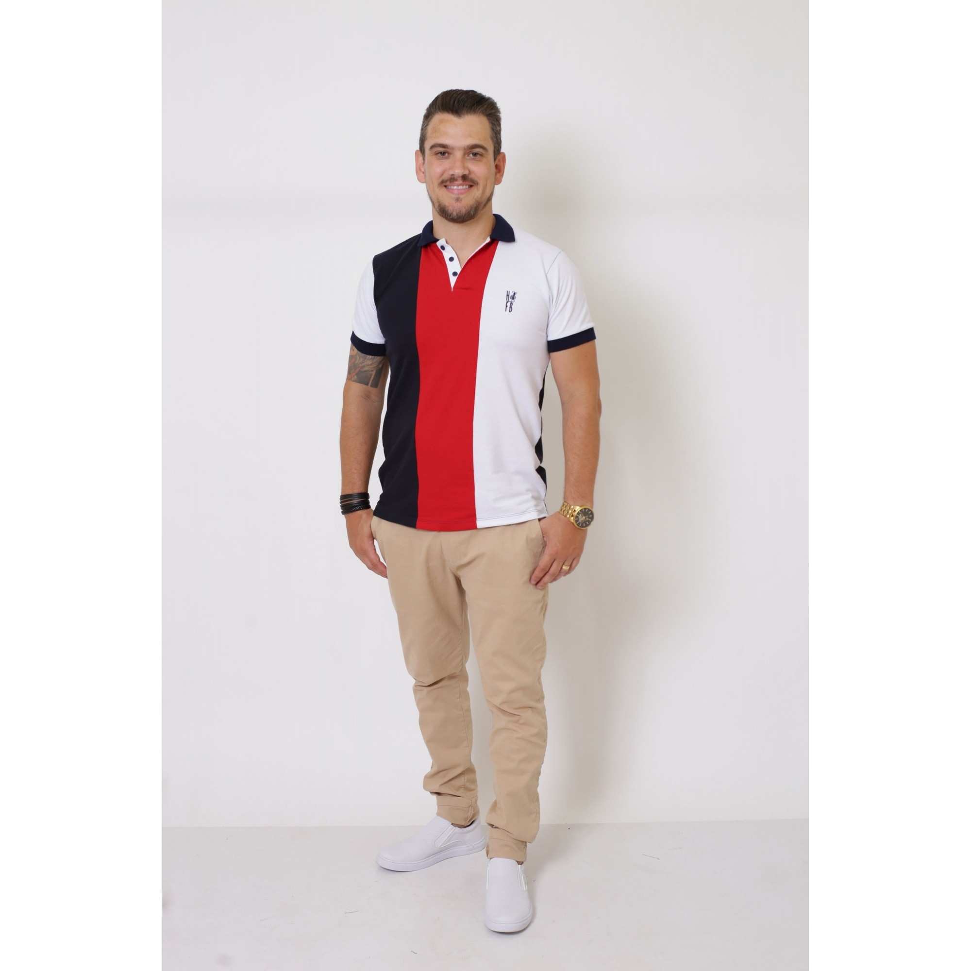 NAMORADOS > Kit 02 Peças - Camisa Polo Masculina + Feminina - Listrados King [Coleção Namorados]  - Heitor Fashion Brazil