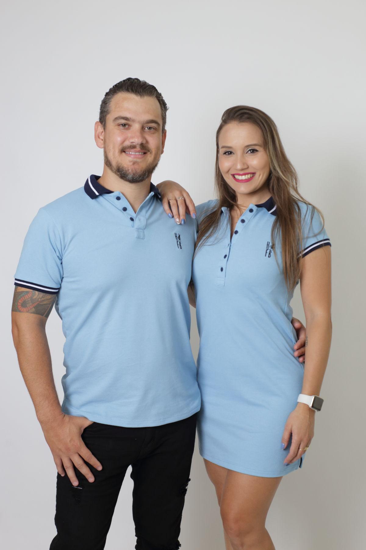 NAMORADOS > Kit 02 Peças Camisa + Vestido Polo Azul Nobreza