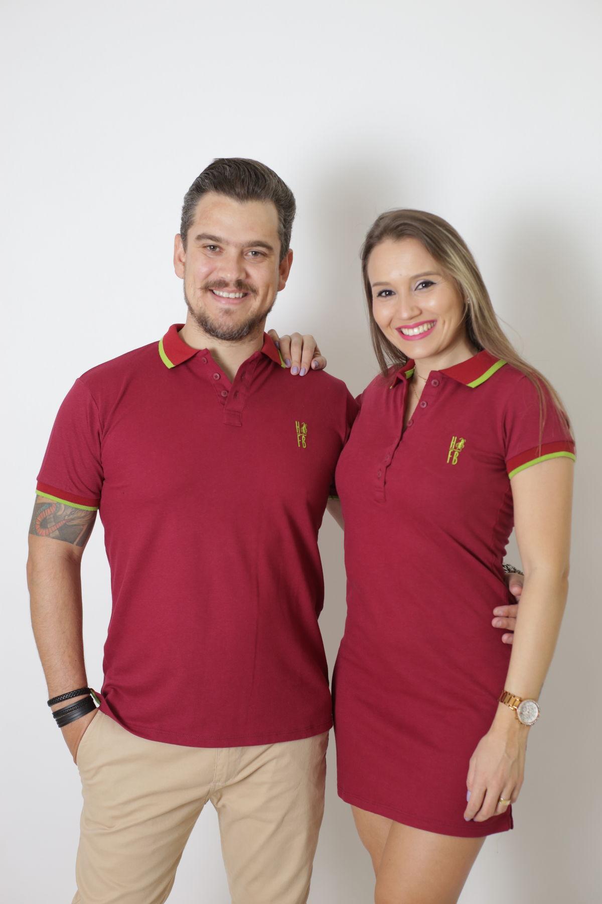 NAMORADOS > Kit 02 Peças Camisa + Vestido Polo Bordo [Coleção Namorados]