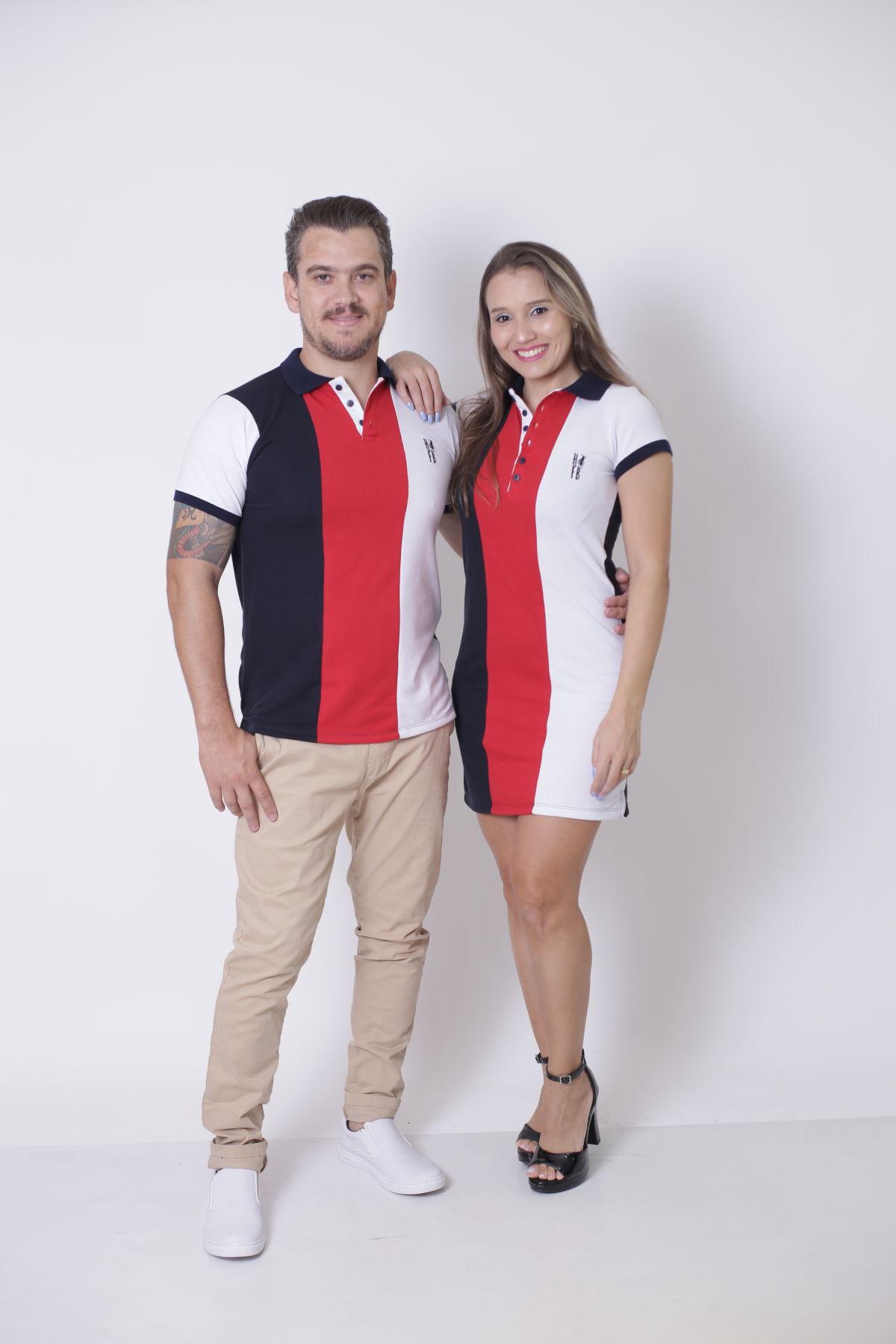 NAMORADOS > Kit 02 Peças Camisa + Vestido Polo - Listrados King [Coleção Namorados]