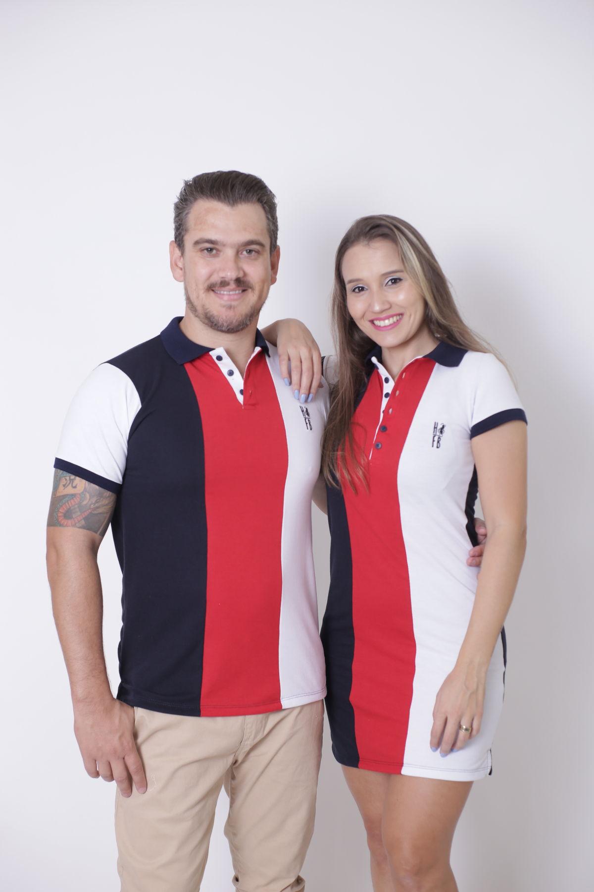 NAMORADOS > Kit 02 Peças Camisa + Vestido Polo - Listrados King [Coleção Namorados]  - Heitor Fashion Brazil