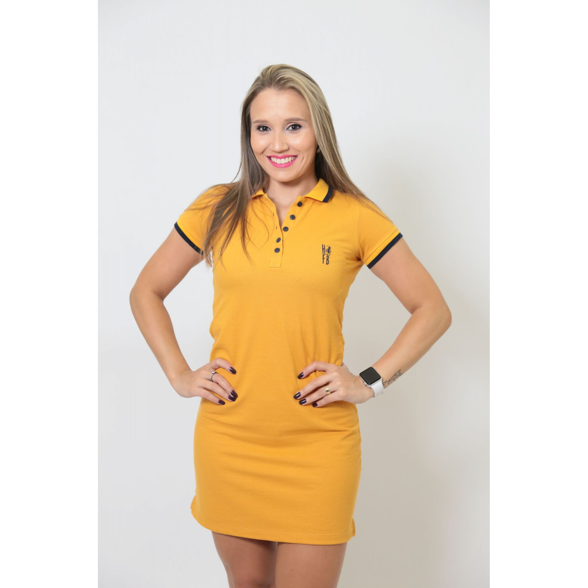 NAMORADOS > Kit 02 Peças Camisa + Vestido Polo Mostarda [Coleção Namorados]  - Heitor Fashion Brazil