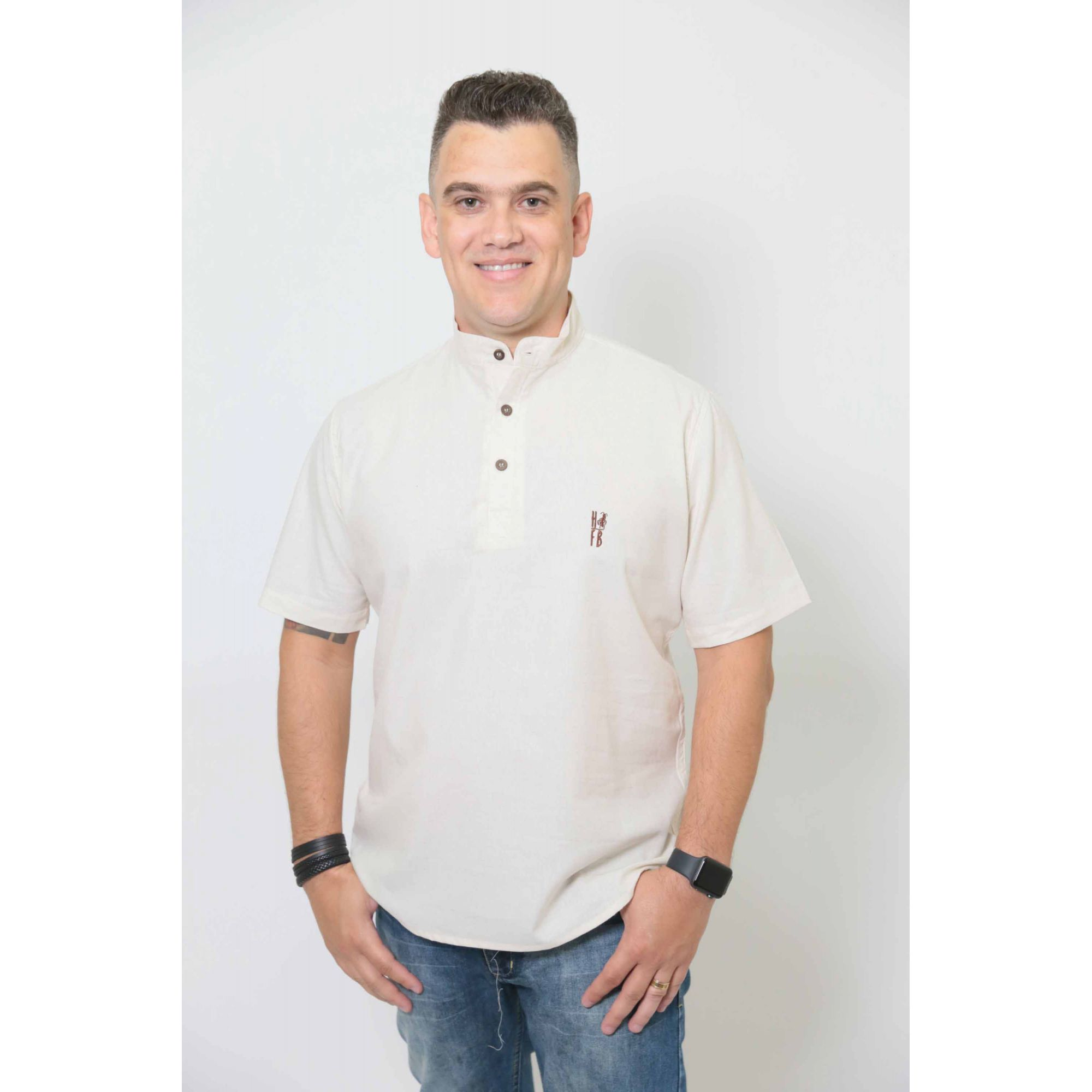 NAMORADOS > Kit 02 Peças Camisas Bata Gola Padre [Coleção Namorados]  - Heitor Fashion Brazil