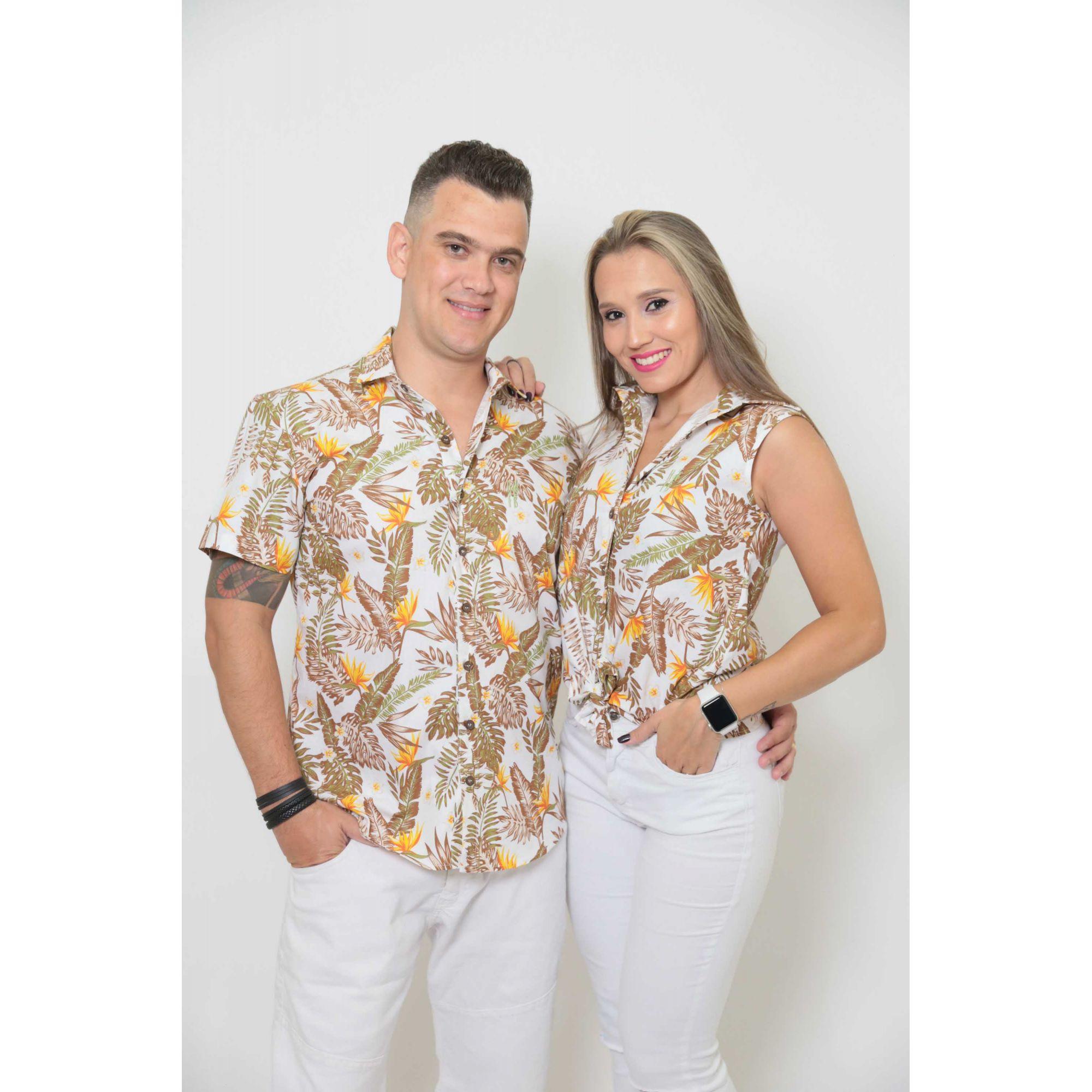 NAMORADOS > Kit 02 Peças Camisas manga Curta Amazonas [Coleção Namorados]  - Heitor Fashion Brazil