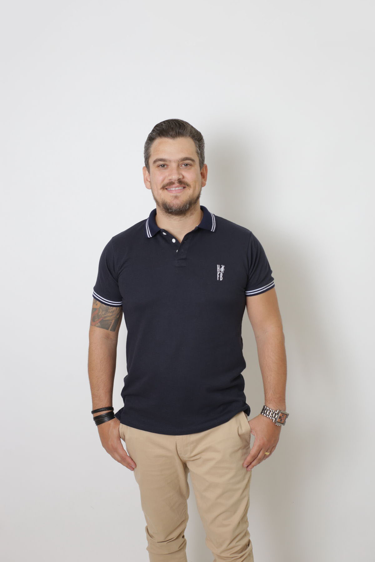 NAMORADOS > Kit 02 Peças Camisas Polo Masculina + Feminina Azul Marinho Céu [Coleção Namorados]  - Heitor Fashion Brazil