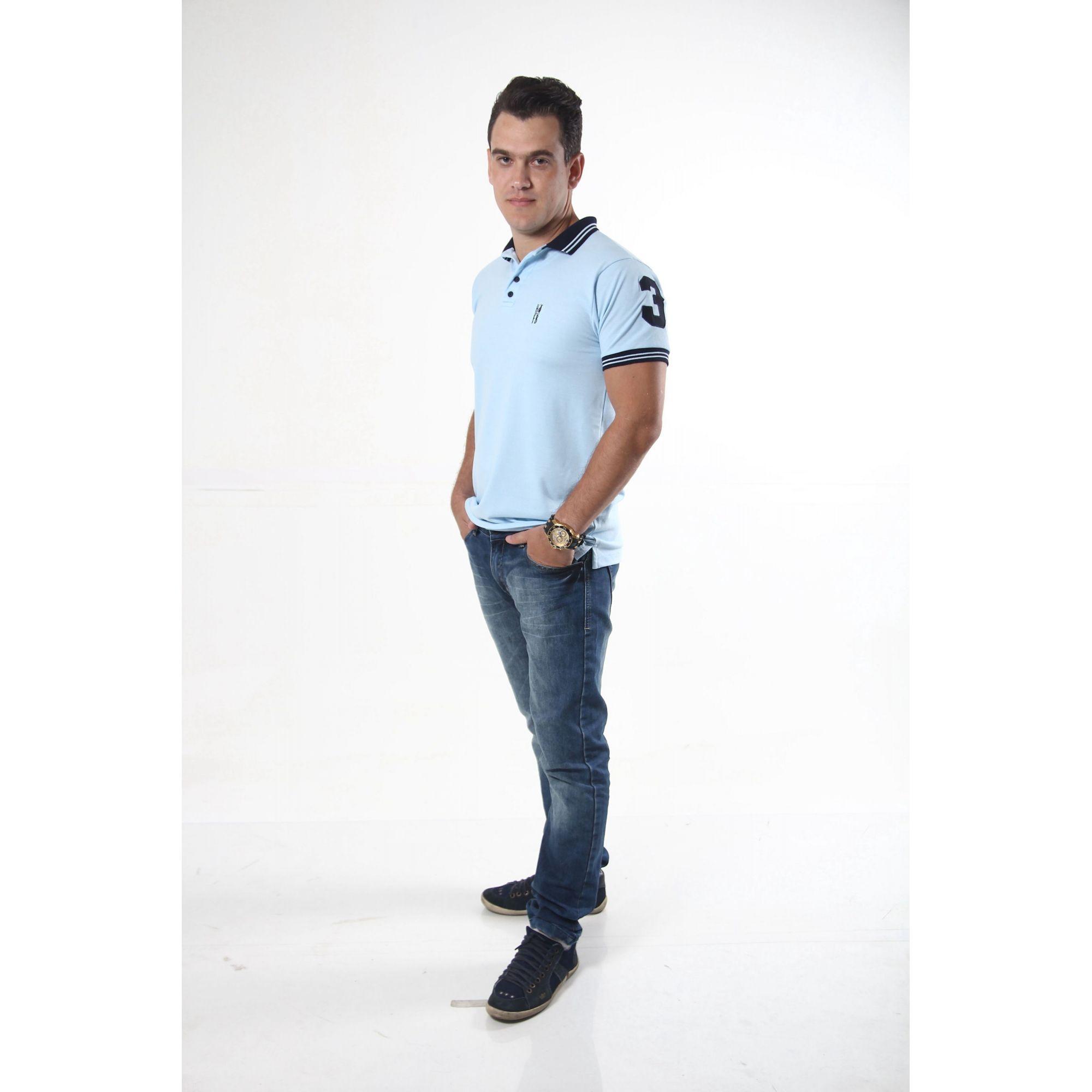 NAMORADOS > Kit 02 Peças Camisas Polo Masculina + Feminina Azul Nobreza [Coleção Namorados]  - Heitor Fashion Brazil