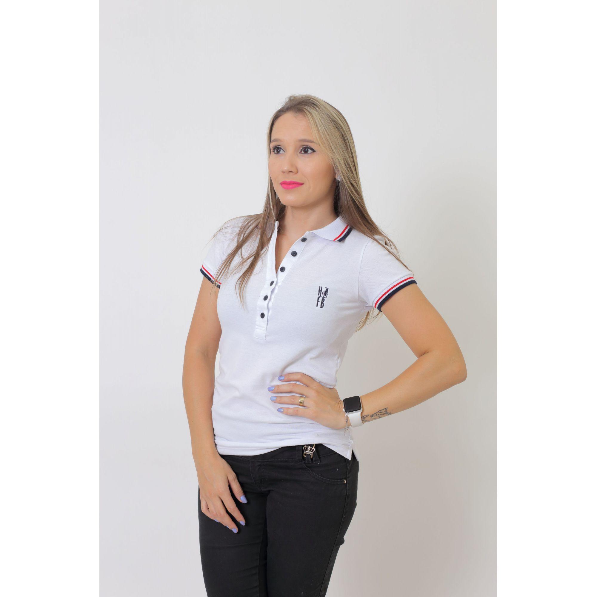 NAMORADOS > Kit 02 Peças Camisas Polo Masculina + Feminina Branca [Coleção Namorados]  - Heitor Fashion Brazil