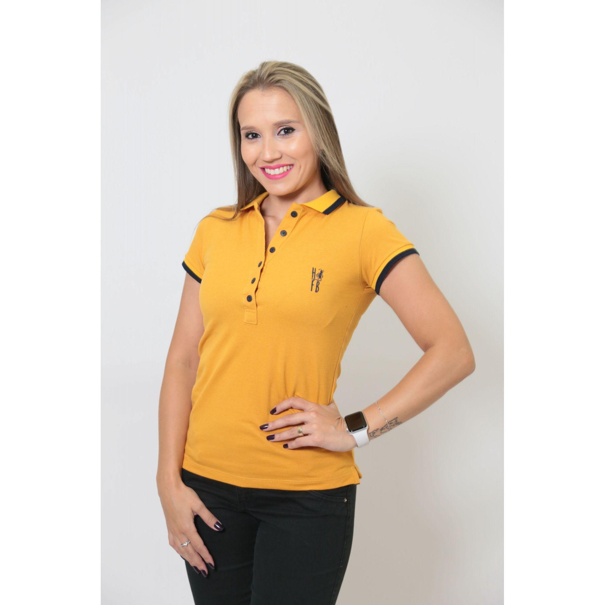 NAMORADOS > Kit 02 Peças Camisas Polo Masculina + Feminina Mostarda [Coleção Namorados]  - Heitor Fashion Brazil