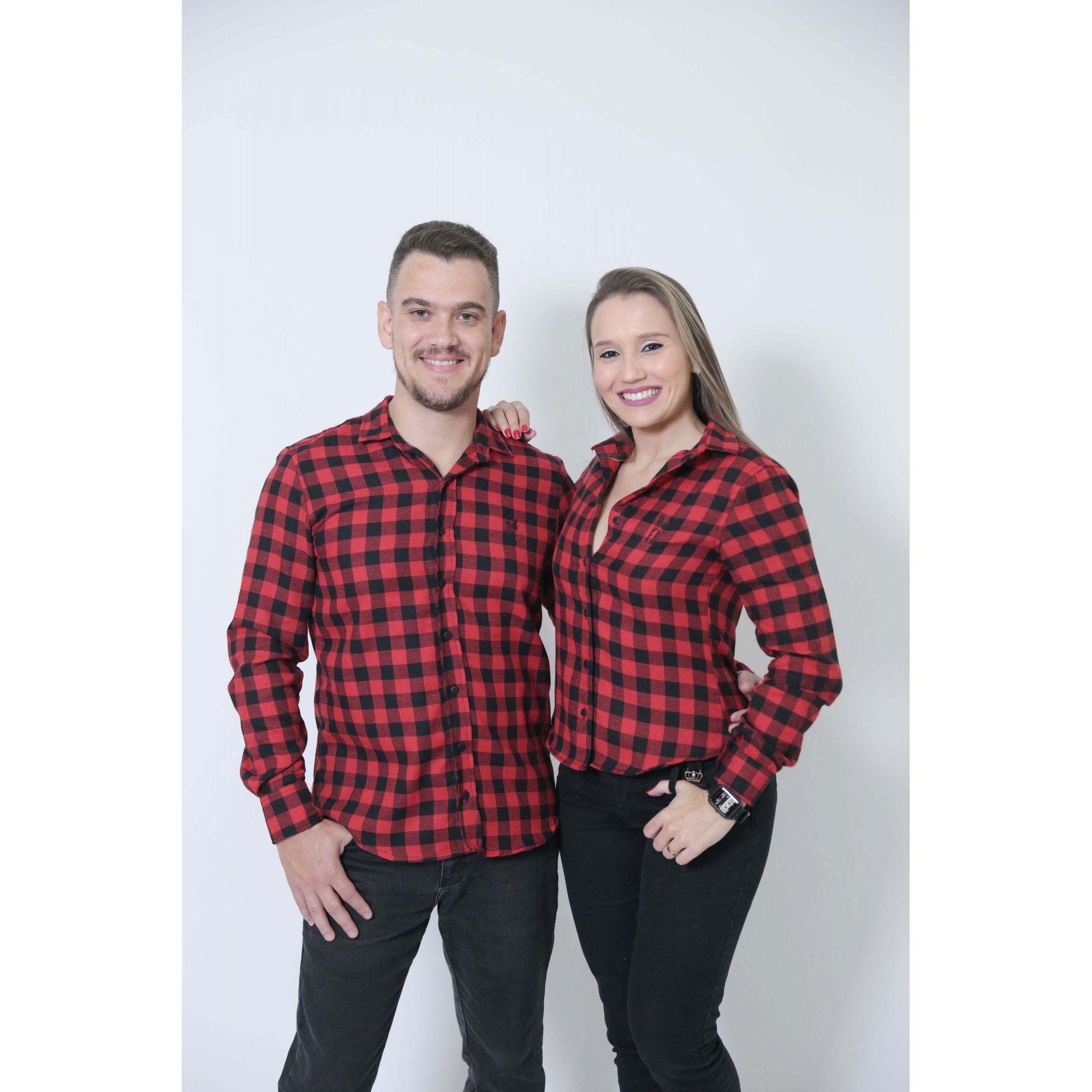 NAMORADOS > Kit 02 Peças Camisas Social Lenhador [Coleção Namorados]  - Heitor Fashion Brazil