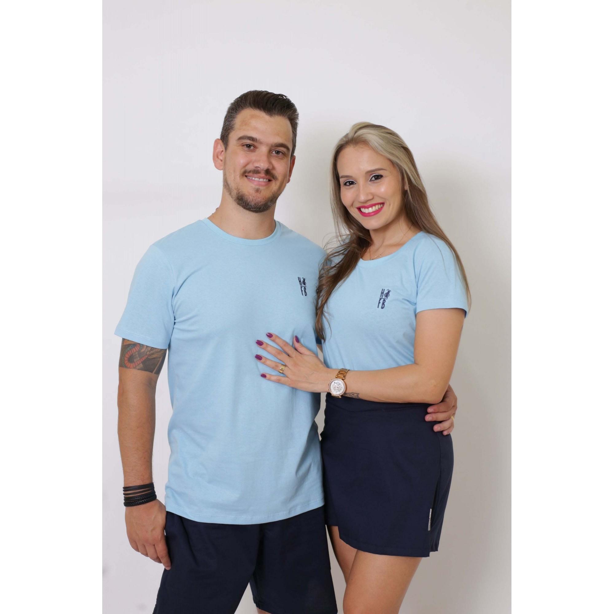 NAMORADOS > Kit 02 Peças T-Shirts Azul Bebê [Coleção Namorados]