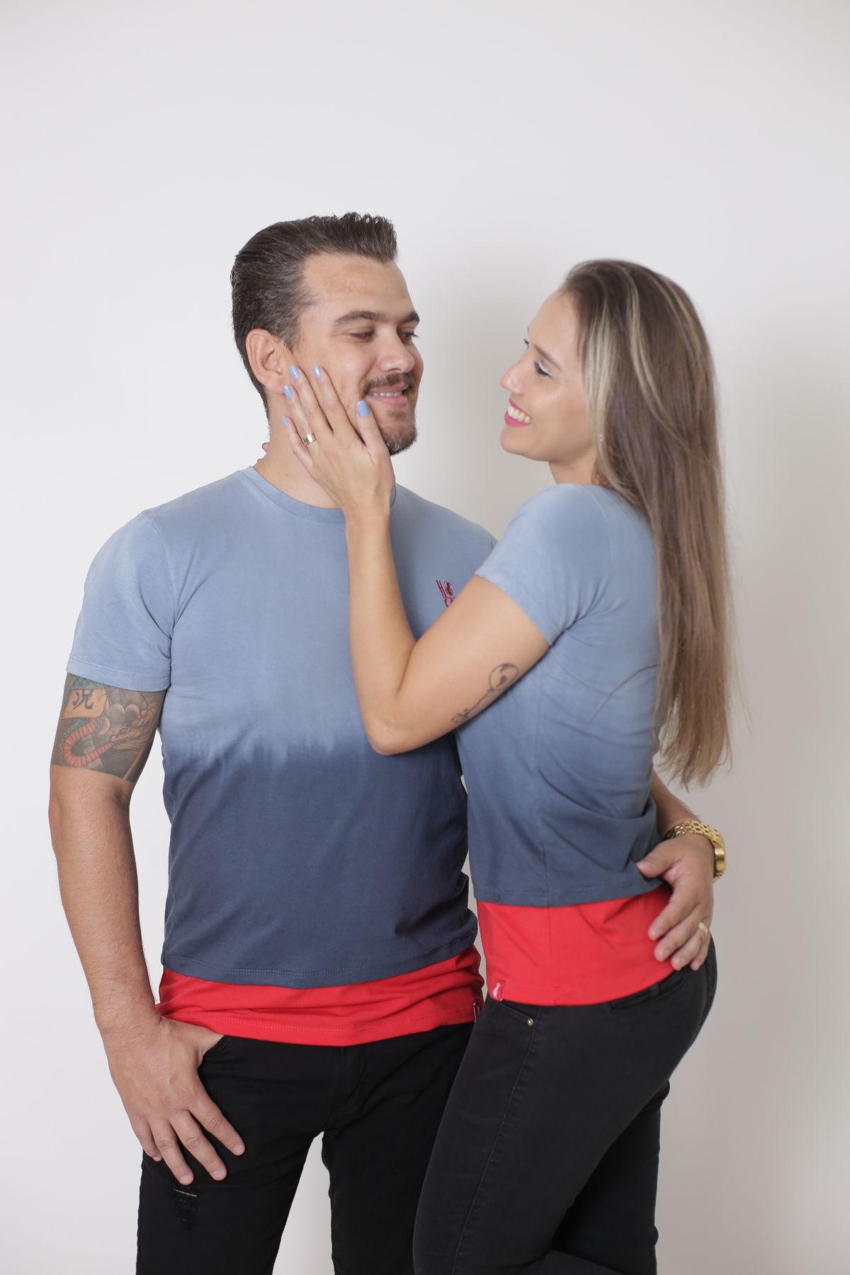 NAMORADOS > Kit 02 Peças T-Shirts Degradê [Coleção Namorados]  - Heitor Fashion Brazil