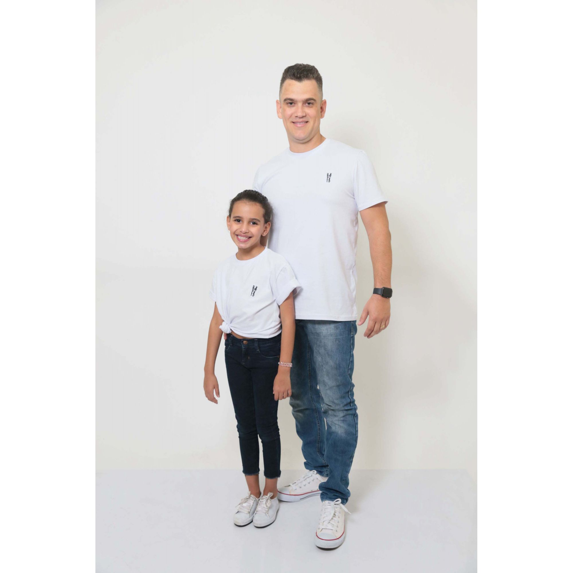PAI E FILHA > 02 T-Shirts - Branca  [Coleção Tal Pai Tal Filha]