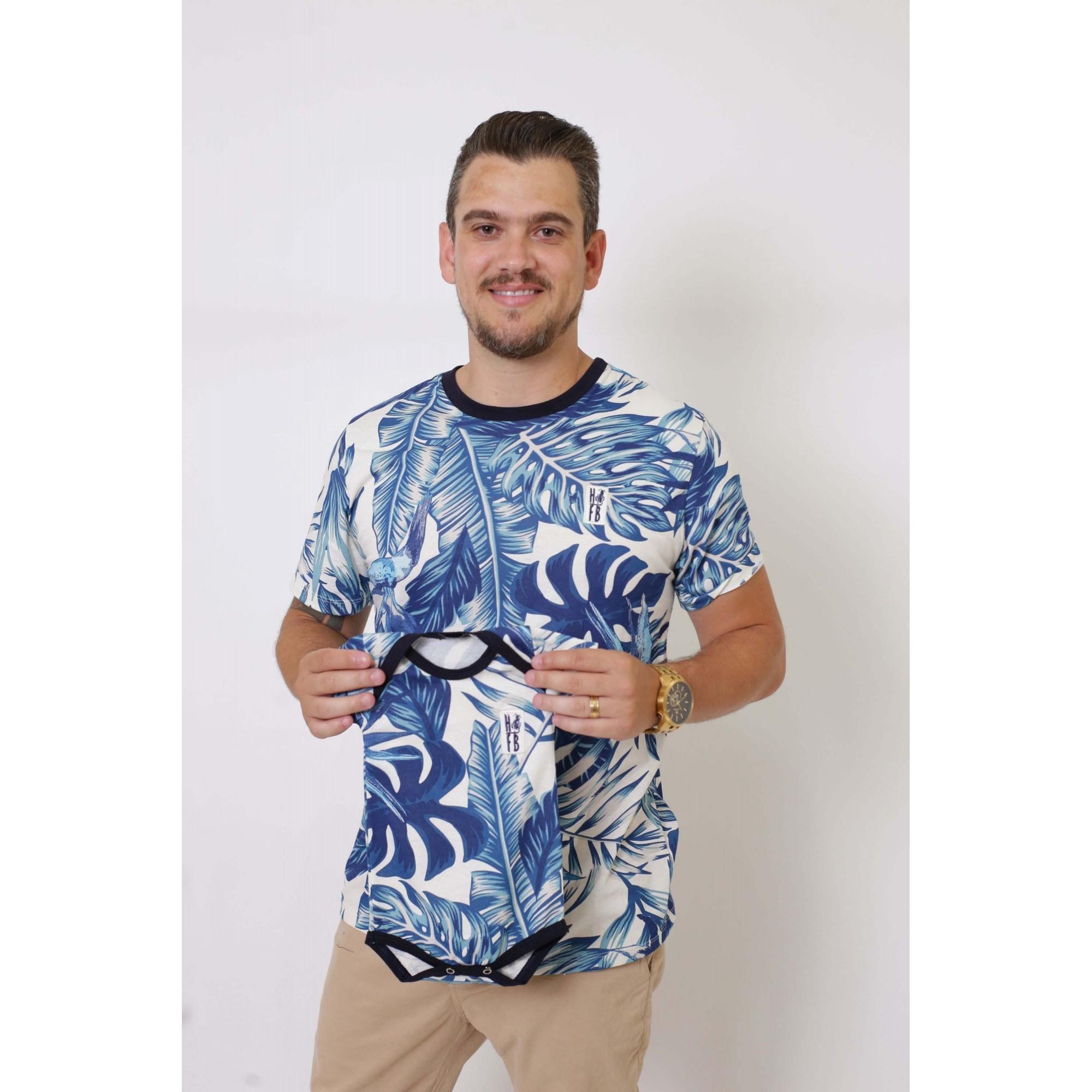PAI E FILHA > 02 T-Shirts - Caribe  [Coleção Tal Pai Tal Filha]  - Heitor Fashion Brazil