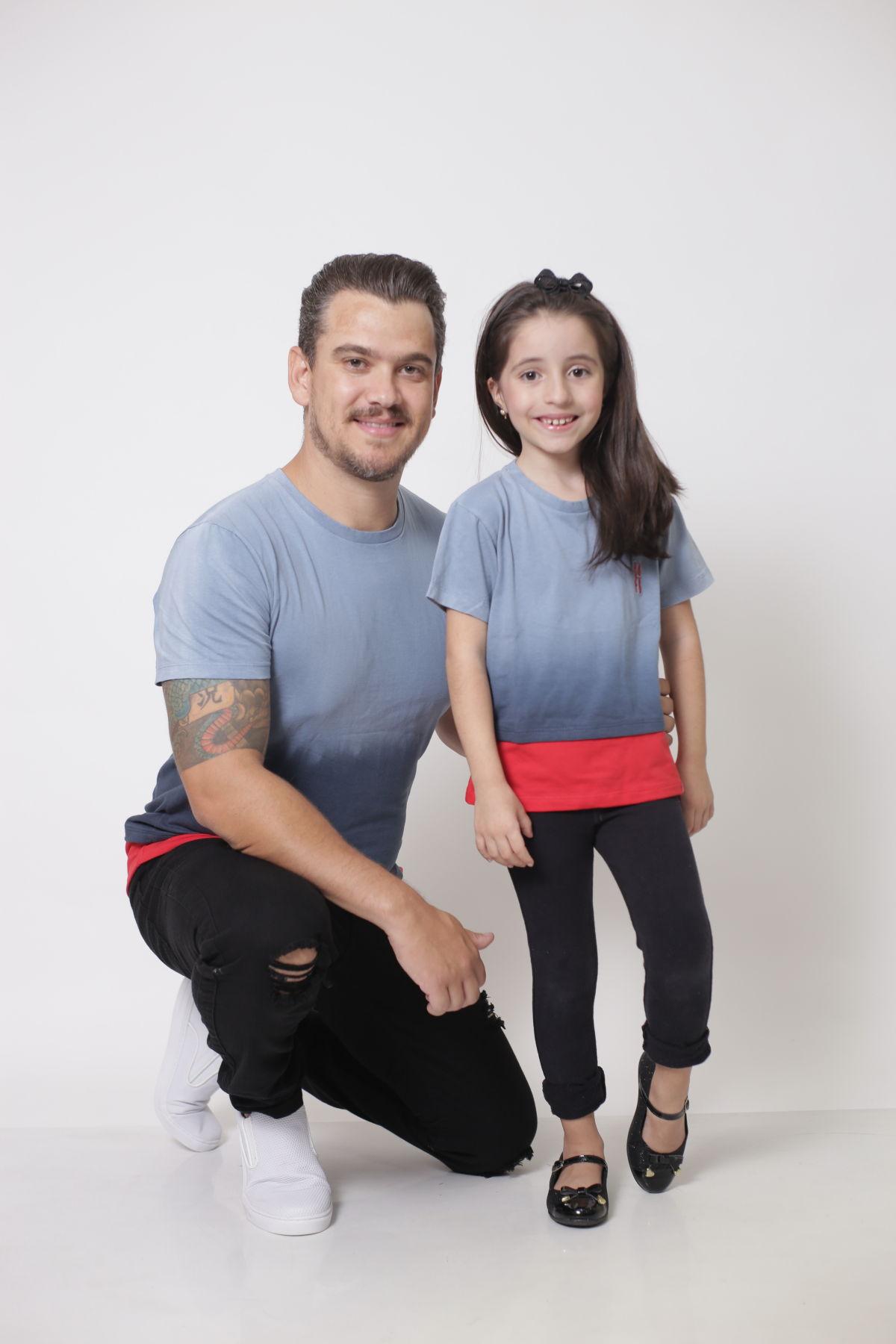 PAI E FILHA > 02 T-Shirts - Degradê  [Coleção Tal Pai Tal Filha]  - Heitor Fashion Brazil