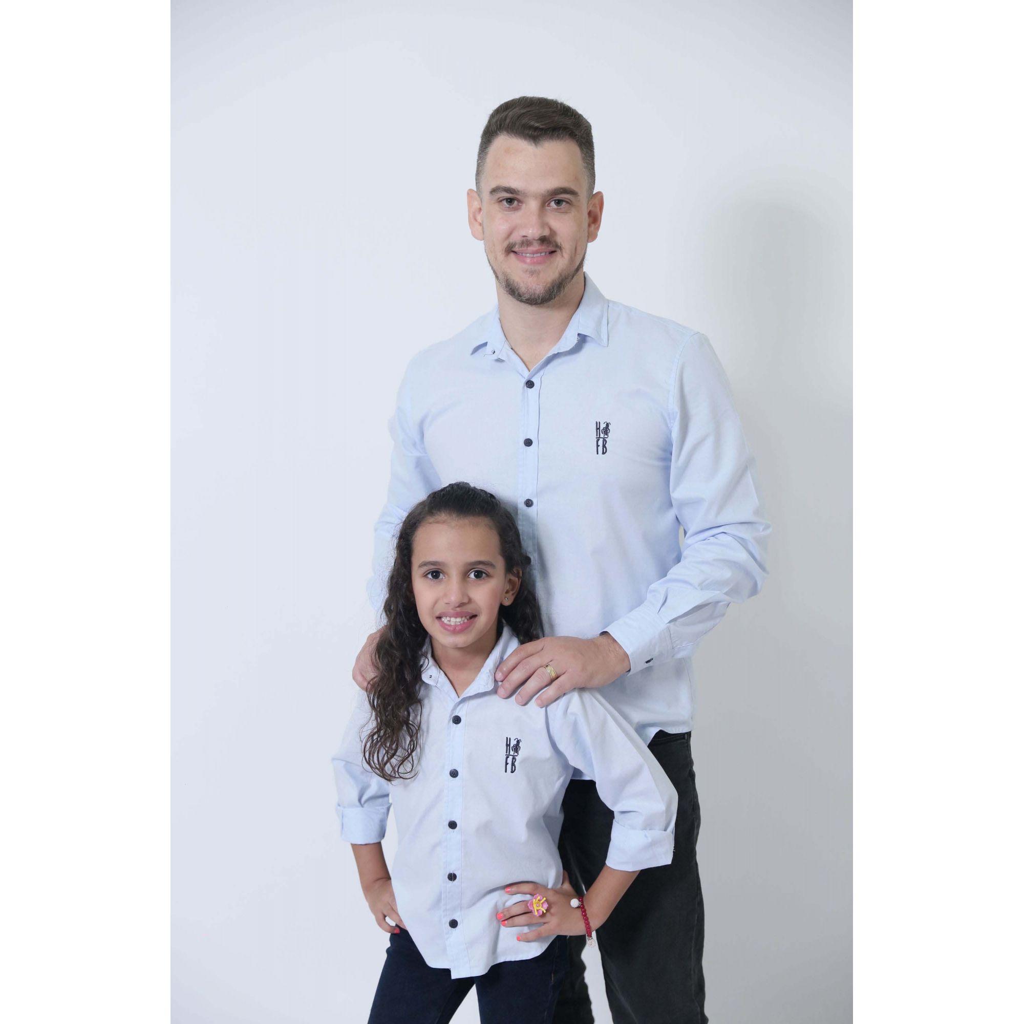 PAI E FILHA > Camisas Social Azul Claro Bebê [Coleção Tal Pai Tal Filha]  - Heitor Fashion Brazil