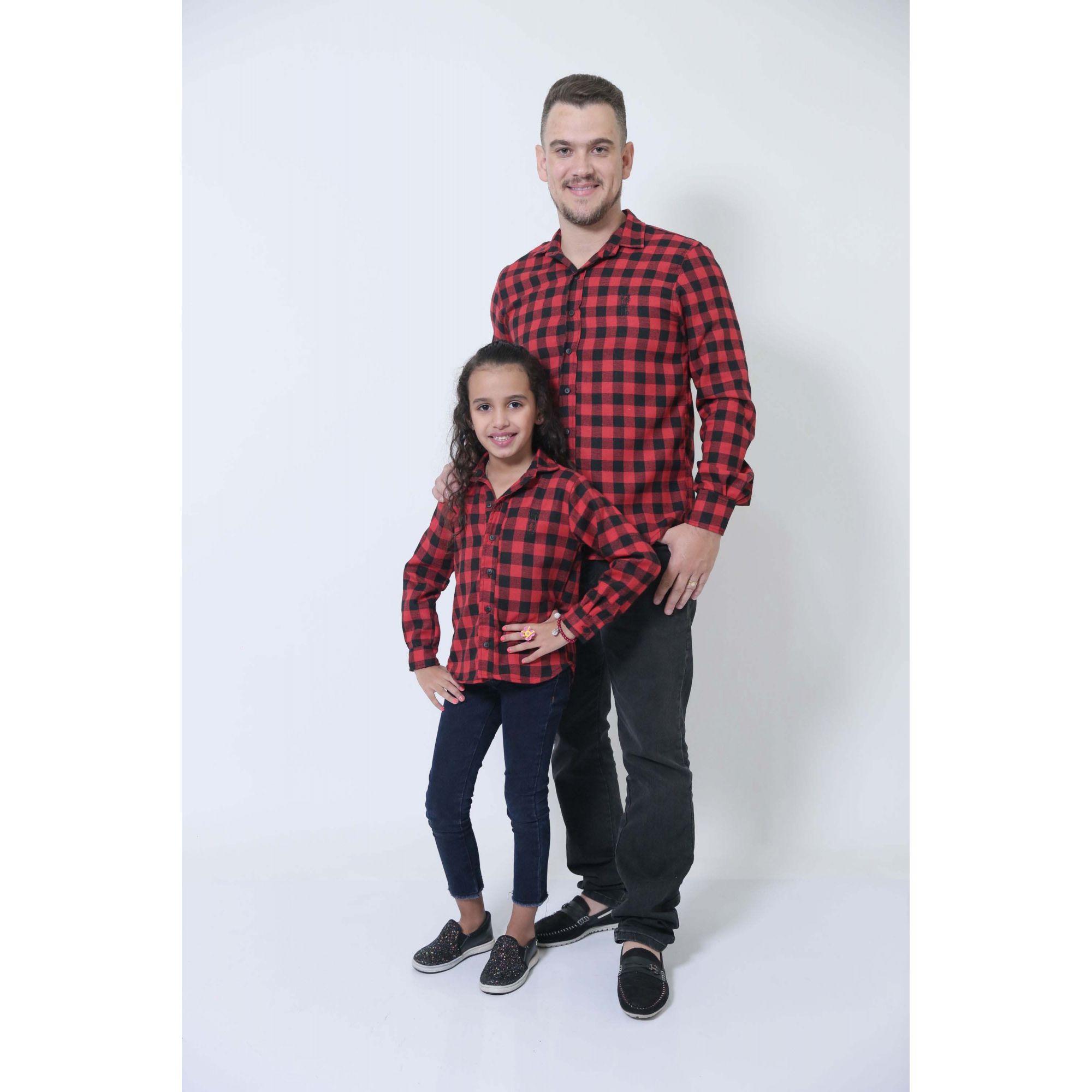 PAI E FILHA > Camisas Social Xadrez Lenhador [Coleção Tal Pai Tal Filha]