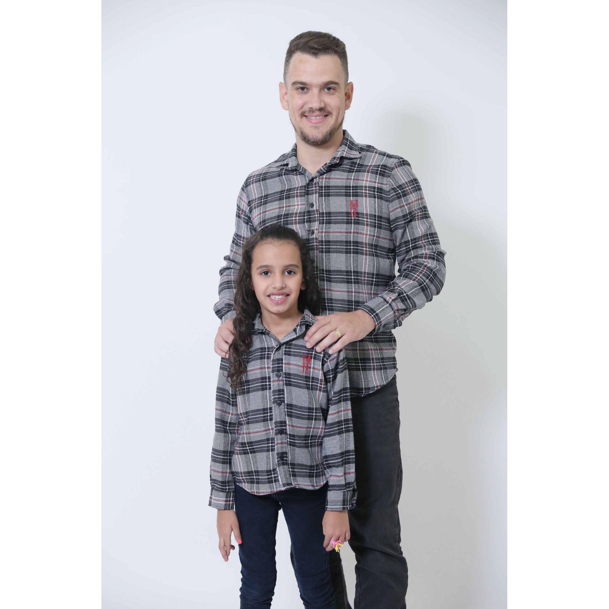 PAI E FILHA > Camisas Social Xadrez Urso [Coleção Tal Pai Tal Filha]  - Heitor Fashion Brazil
