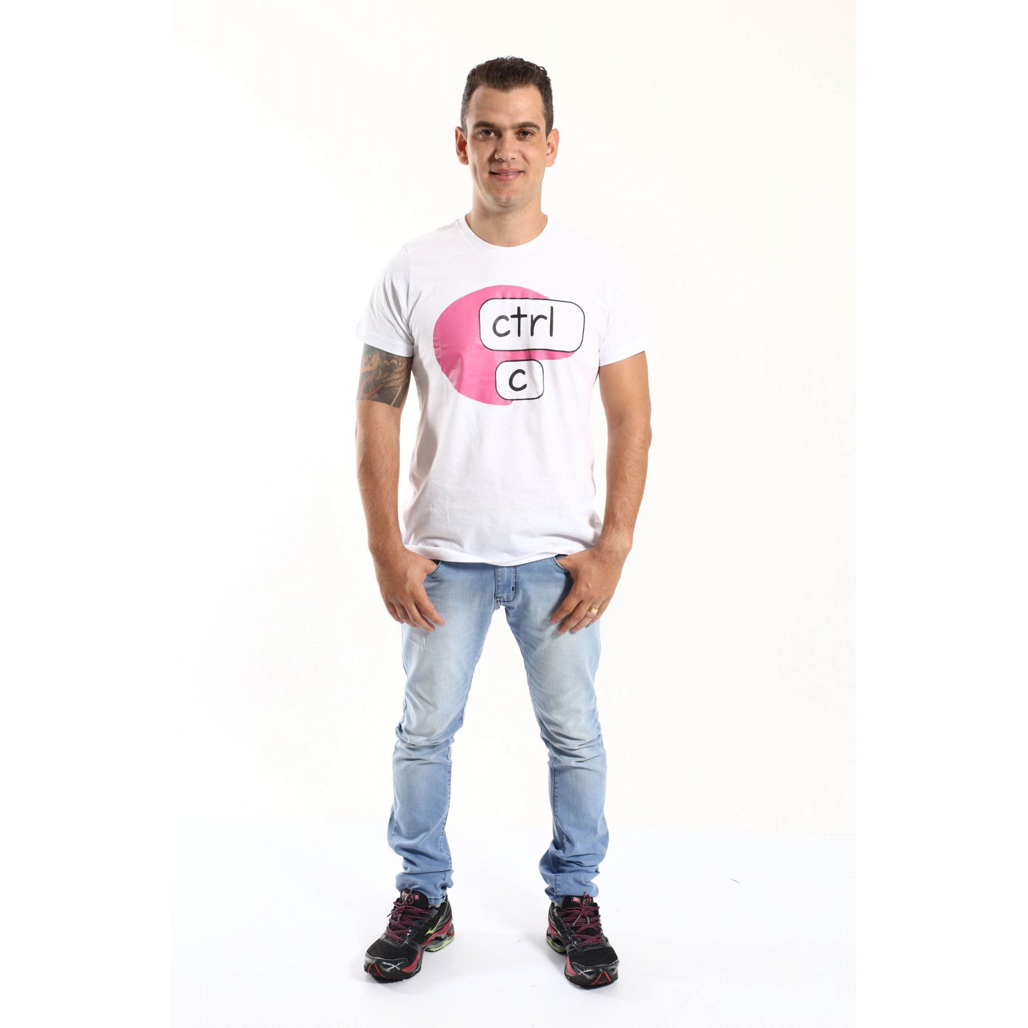 PAI E FILHA > Kit 02 Camisetas Brancas Ctrl+C Ctrl+V [Coleção Tal Pai Tal Filho]  - Heitor Fashion Brazil