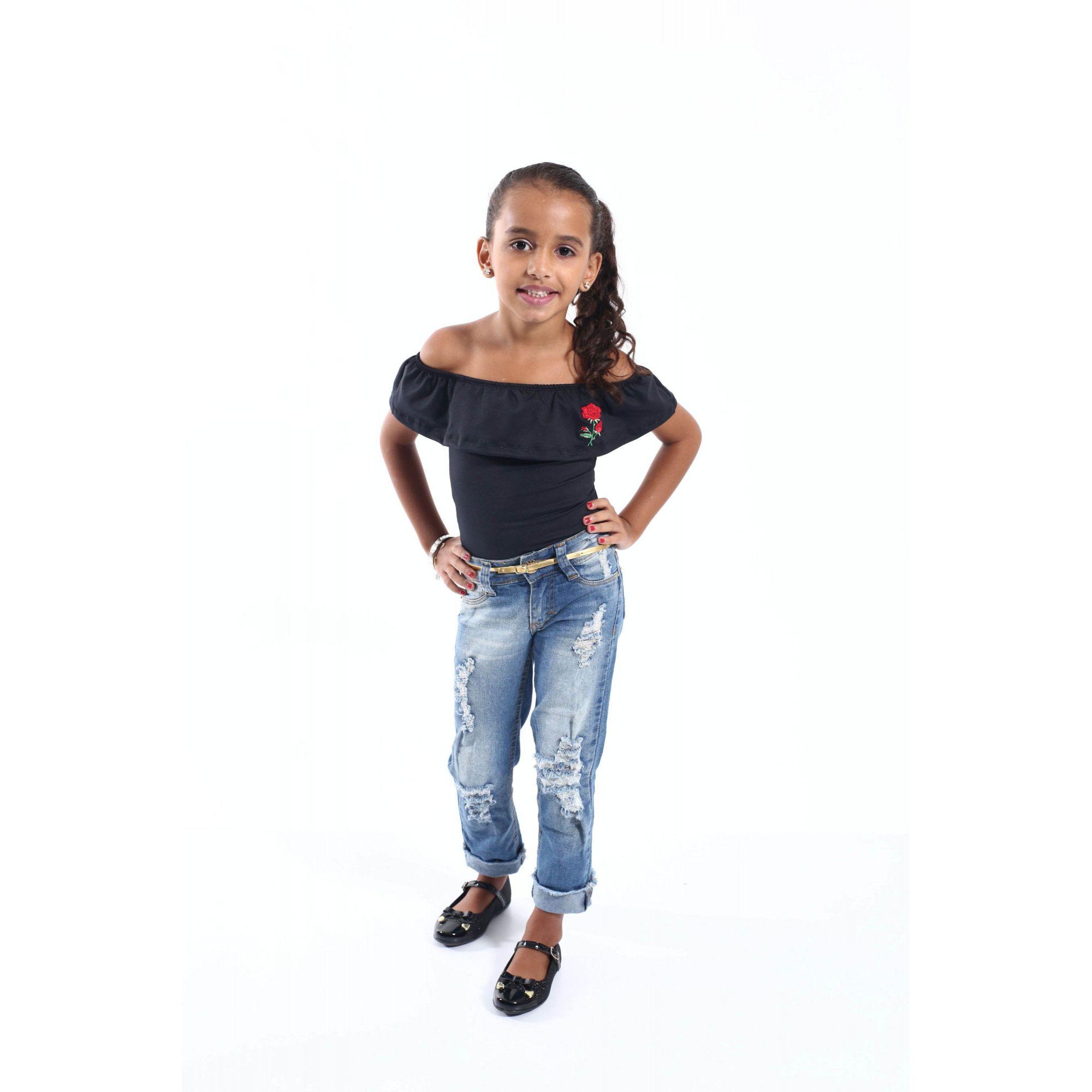 PAI E FILHa > Kit 02 Peças Camiseta Long + Body Infantil Pretos [Coleção Tal Pai Tal Filha]  - Heitor Fashion Brazil